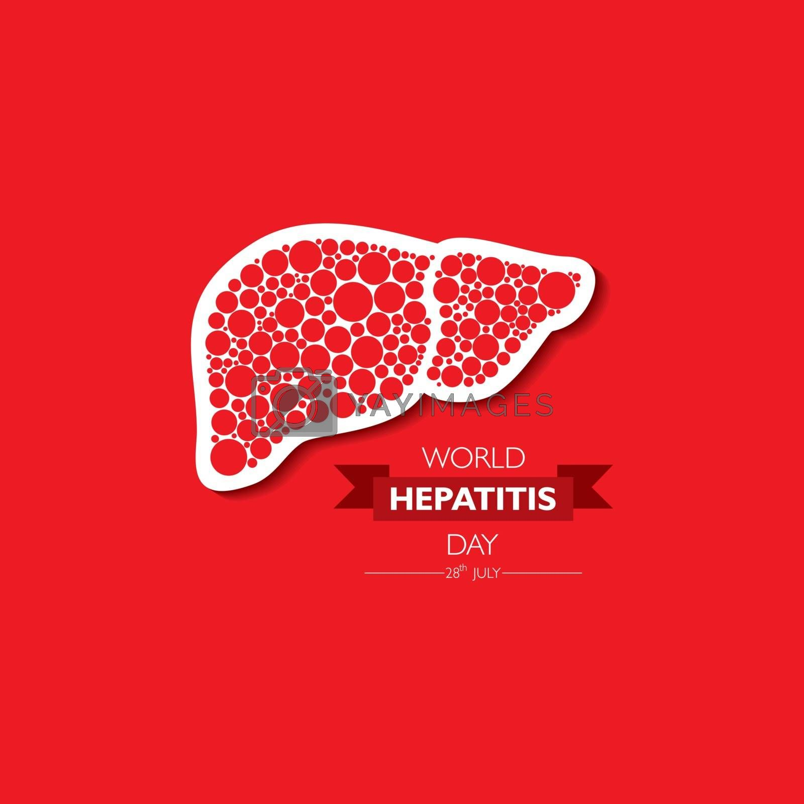 Vector Illustration,poster or banner of World Hepatitis Day observed on 28 July by graphicsdunia4you