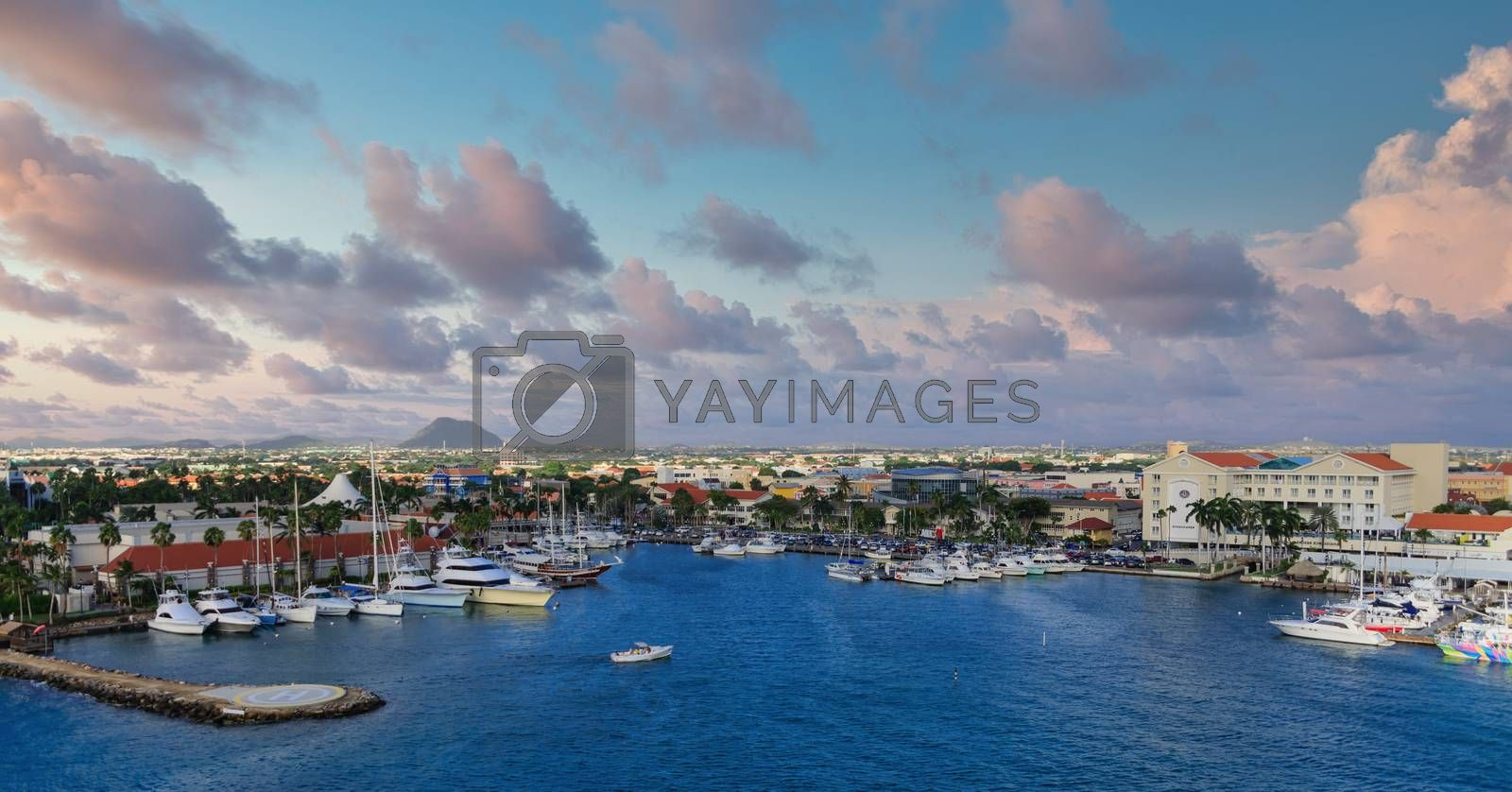 Boat and Ship Harbor on Aruba Under Nice Sky