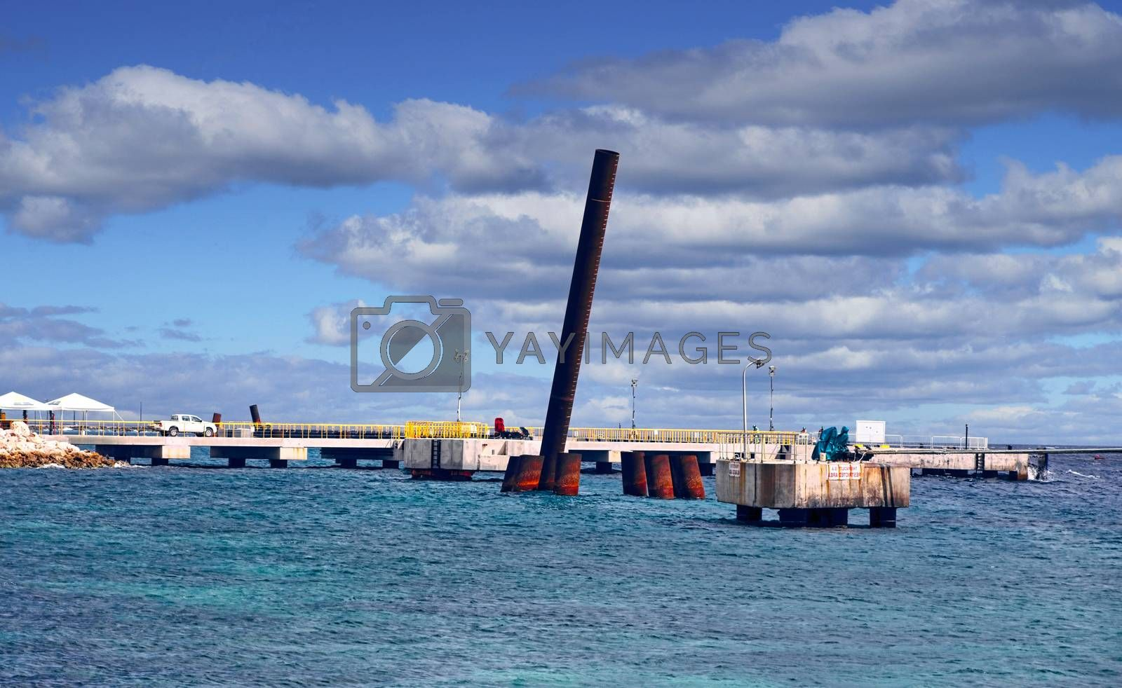 New Pier Construction in the Harbor of Curacao