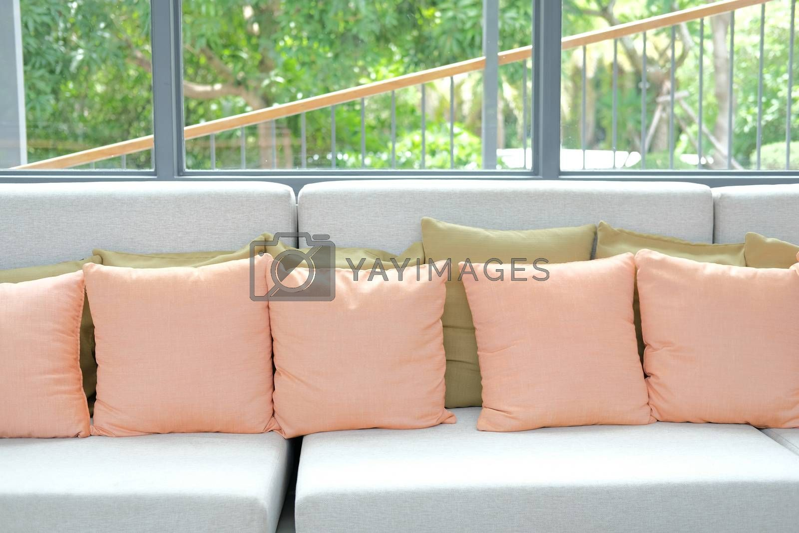 Royalty free image of pillow on sofa chair in living room. home apartment interior by pp99