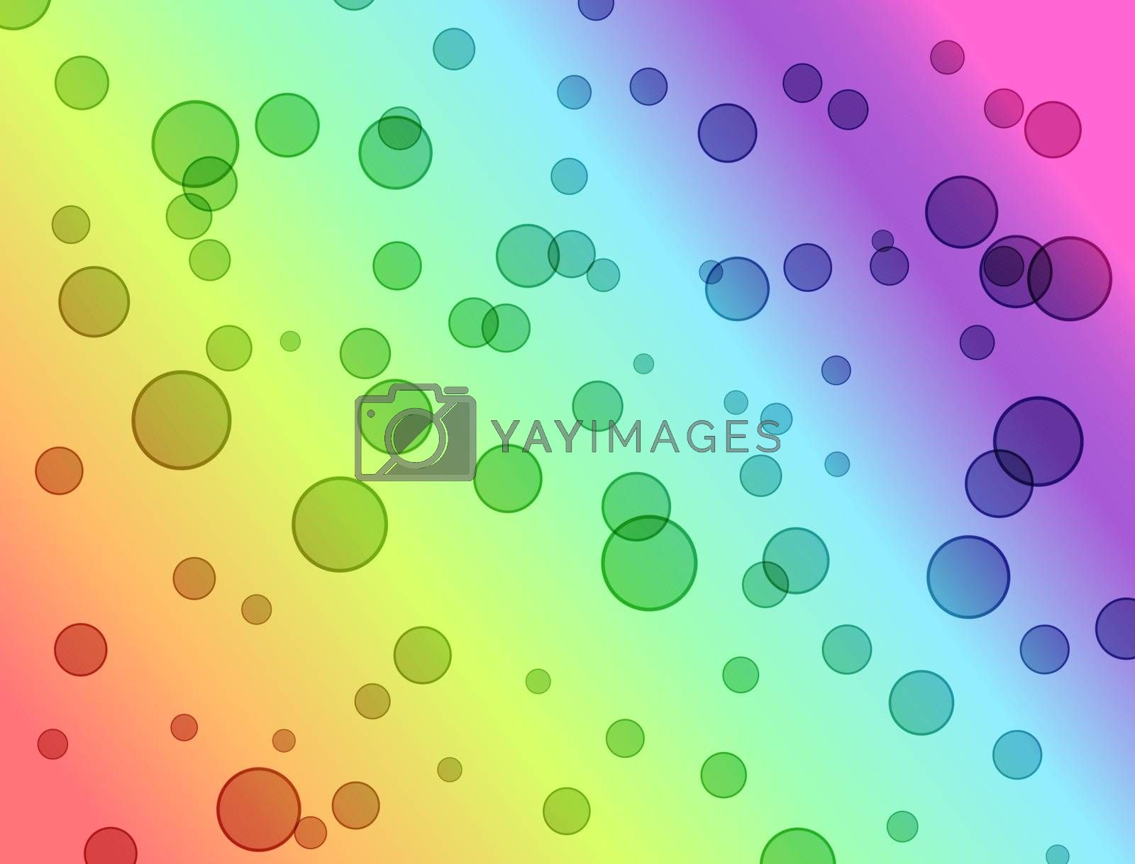 rainbow gradient bright spot circles abstract background