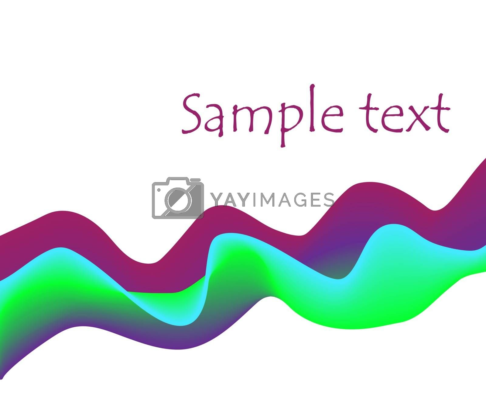 violet purple green blue 3d curves abstract background