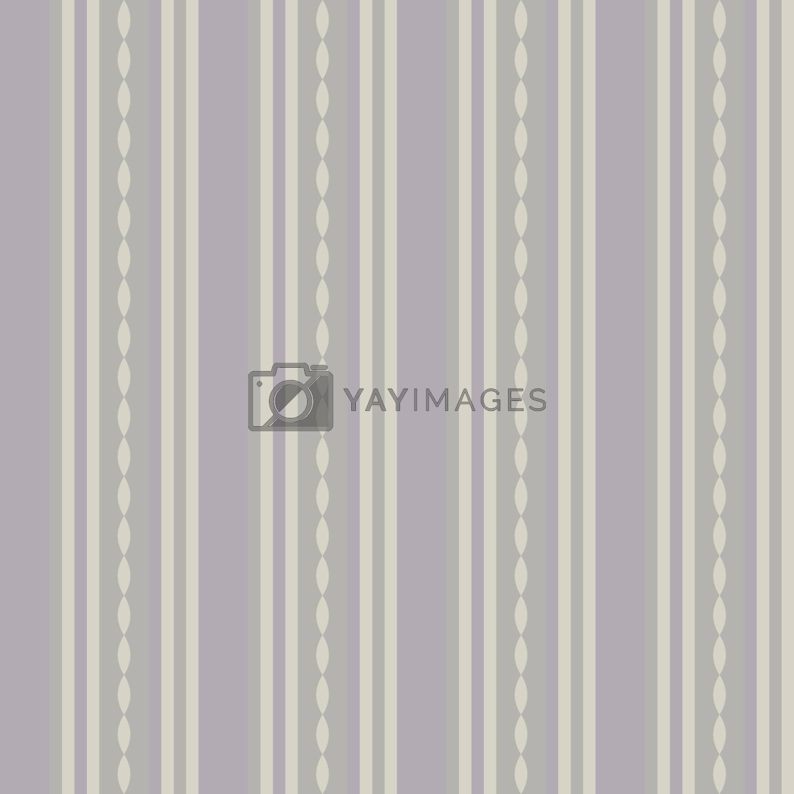 Classic decorative vintage seamless patterns with stripes and waves. Pastel beige, pink striped background in retro style. For greeting cards, invitations, textile fabric, wallpaper or wrapping paper by Henkeova