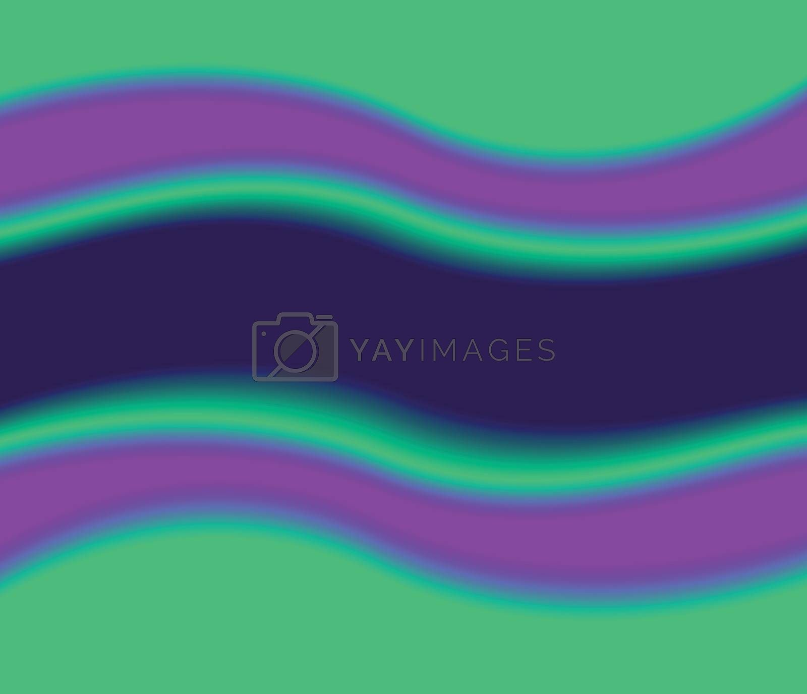 Colorful background. Green pink purple and blue color waves framme border. Luxury style abstract vector backdrop or cover layout.