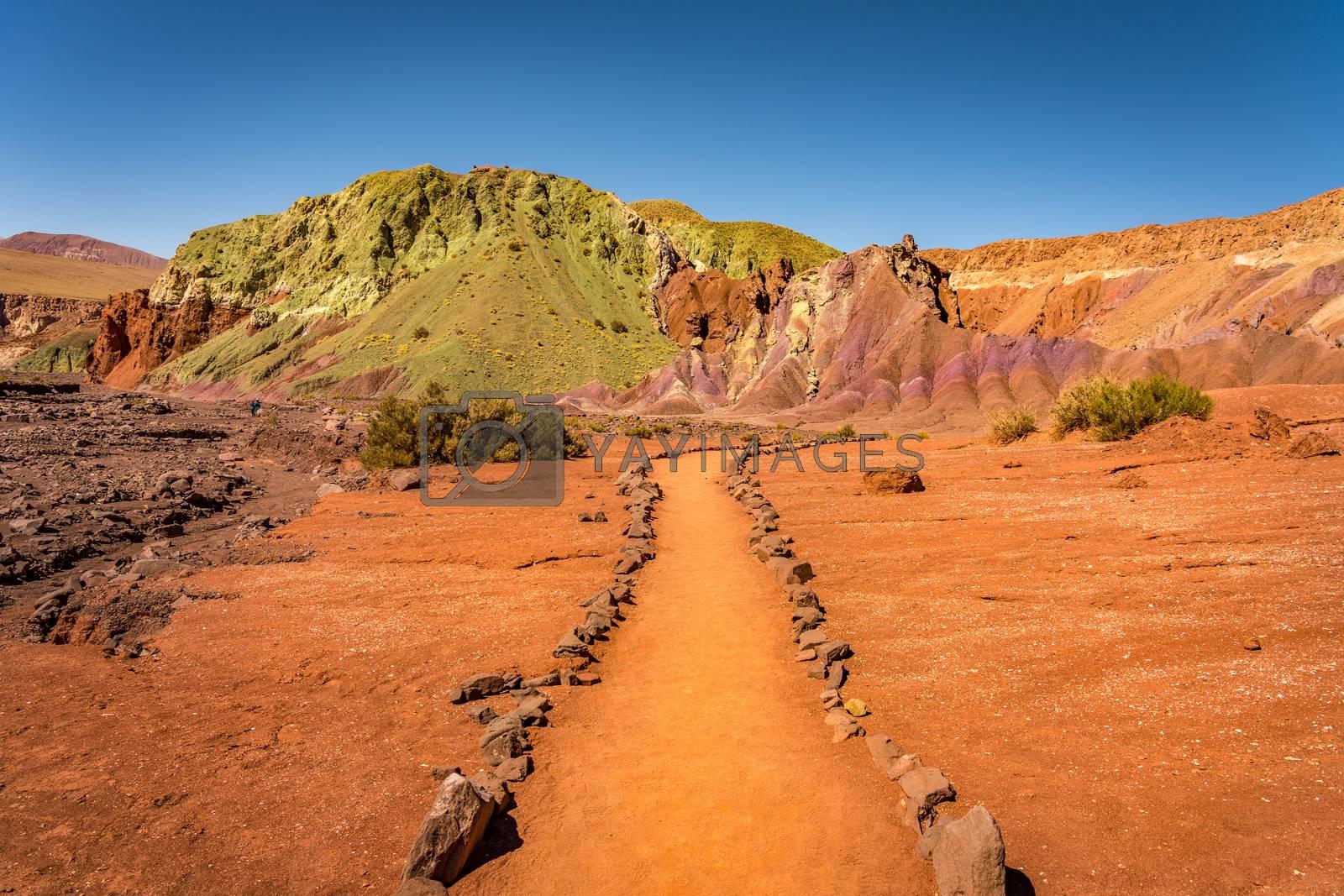 Royalty free image of Valle del Arcoiris, San Pedro de Atacama, Chile. by maramade