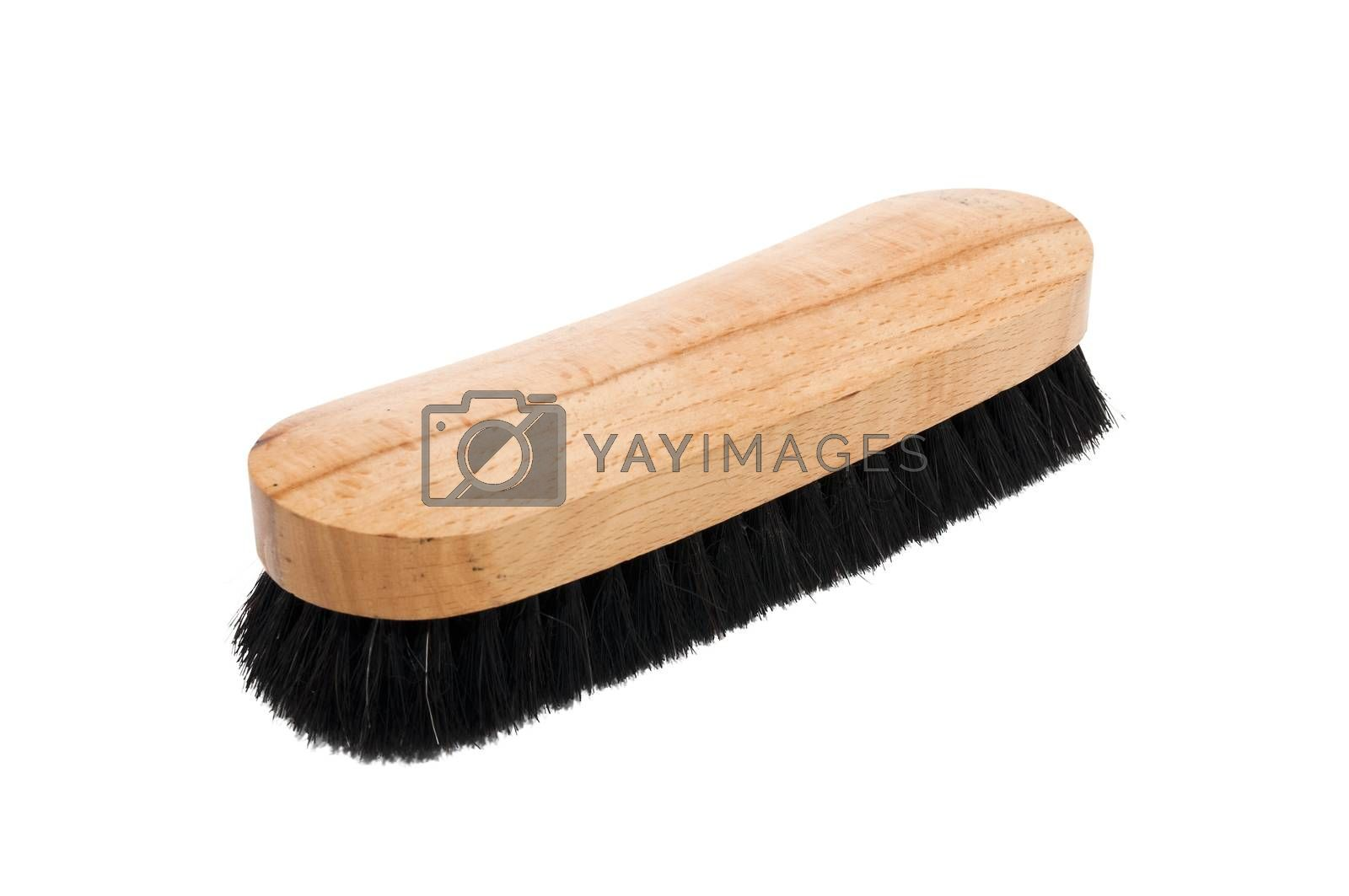 brush shoes isolated on a white background