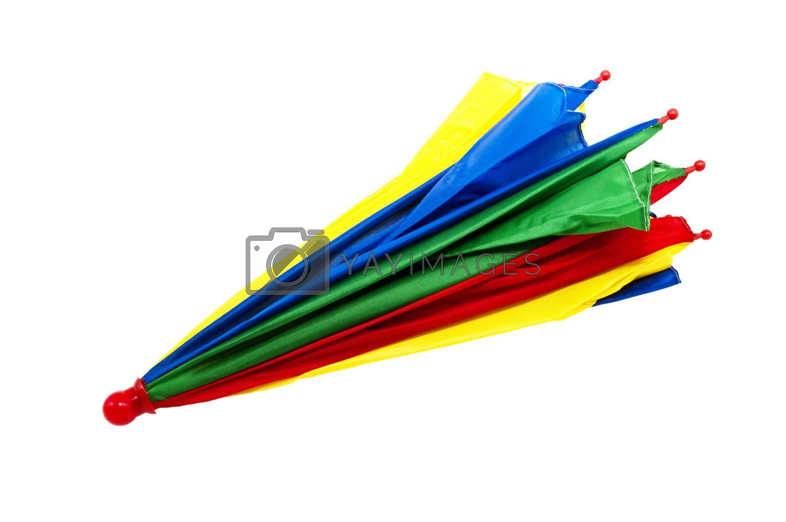 colorful umbrella isolated on white background