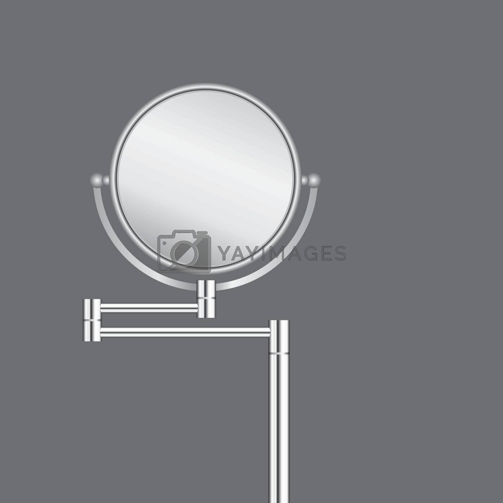 Floor circular swivel mirror with two mirror surfaces
