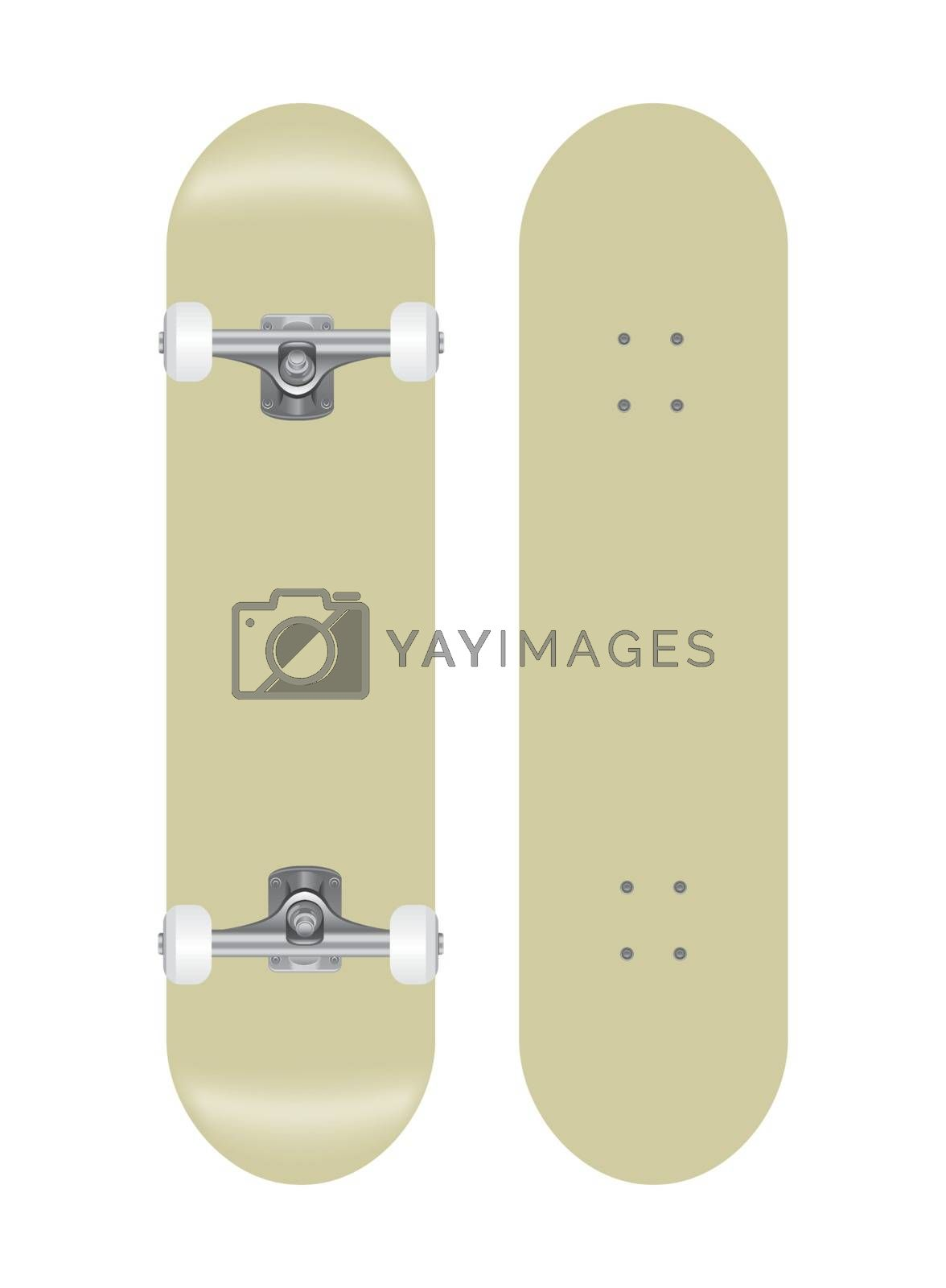 Royalty free image of skateboard vector template illustration by barks