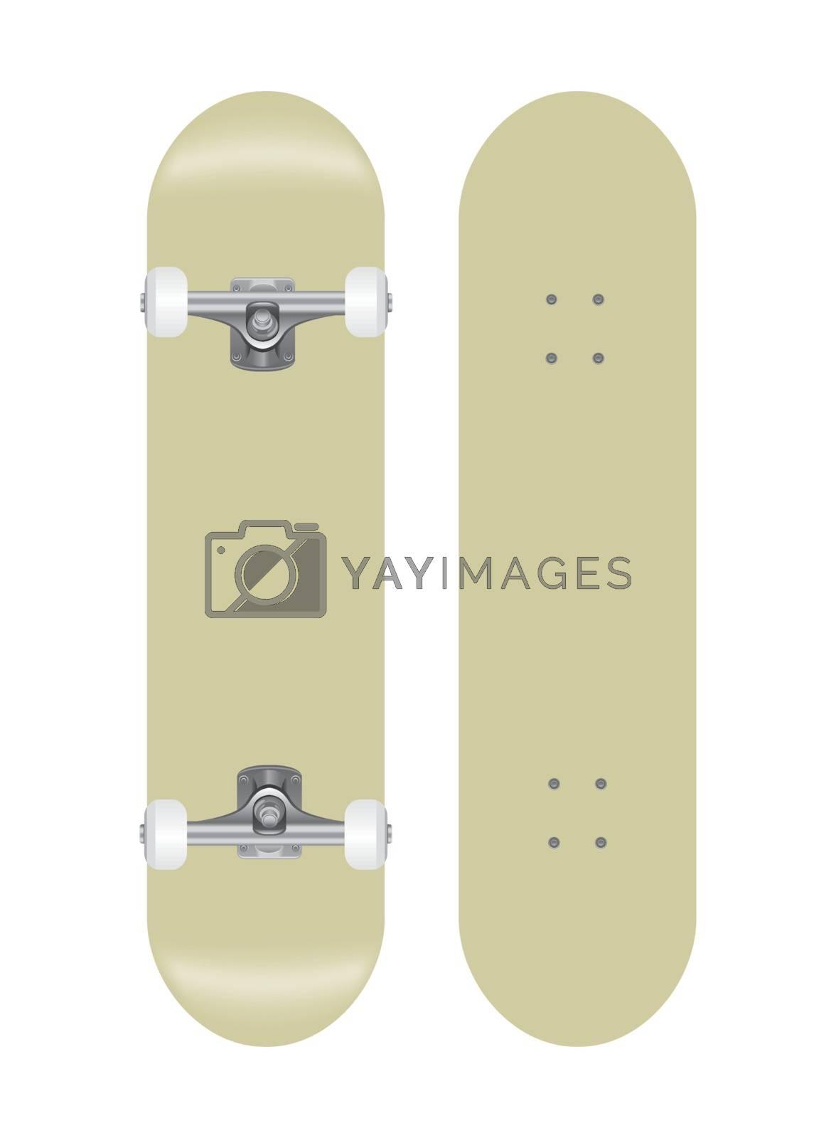skateboard vector template illustration