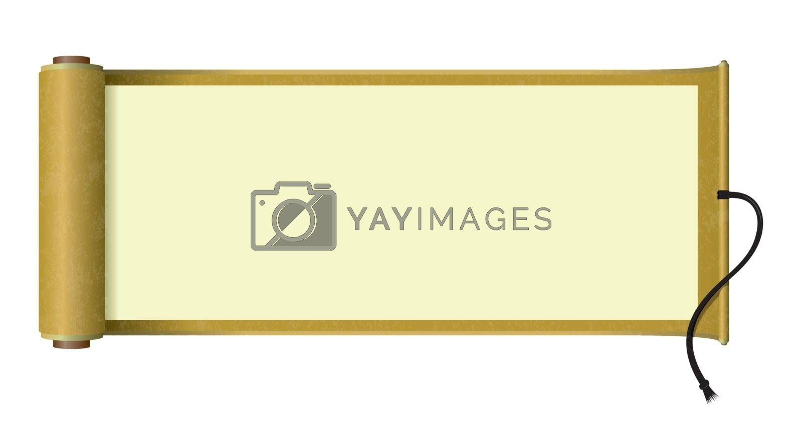 Royalty free image of Japanese scroll paper illustration by barks
