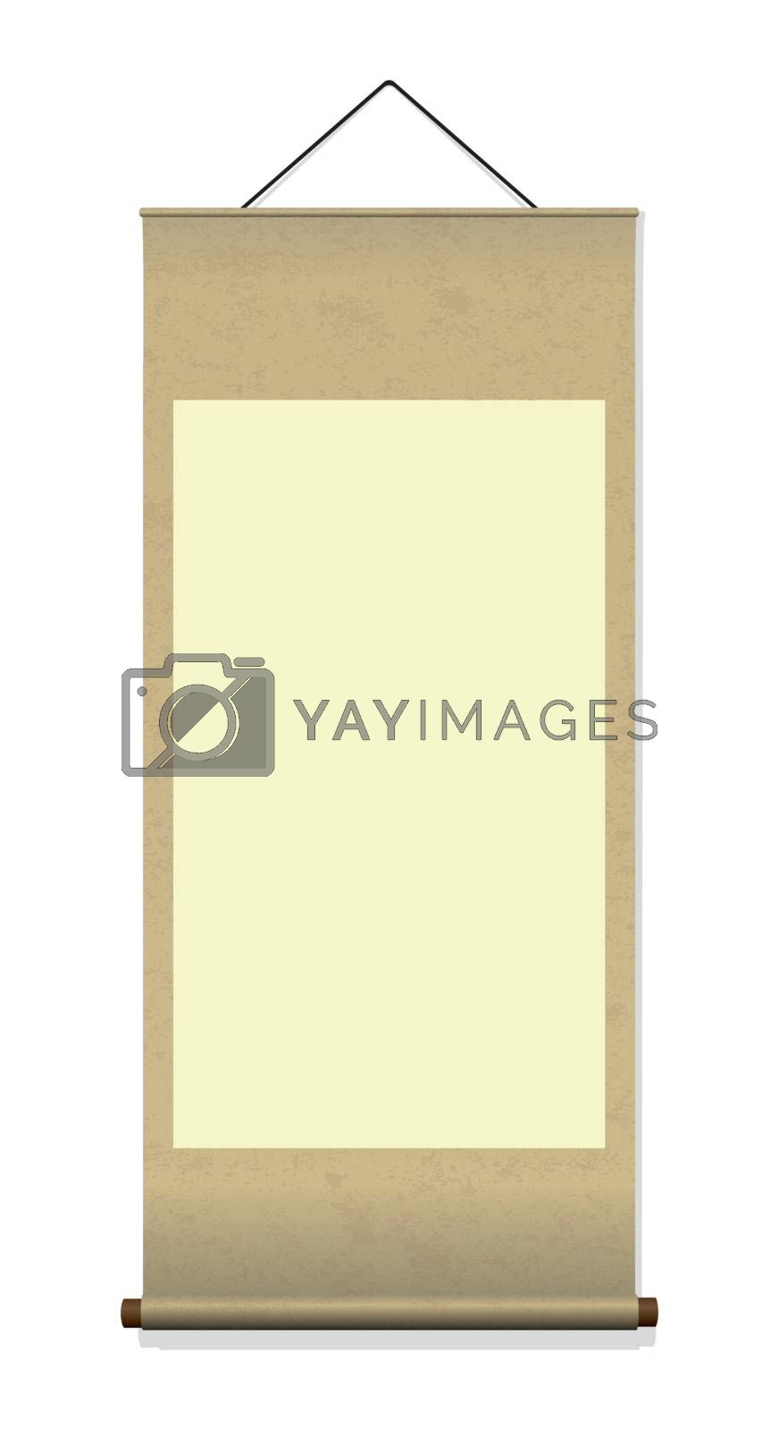 Royalty free image of Japanese hanging scroll illustration by barks