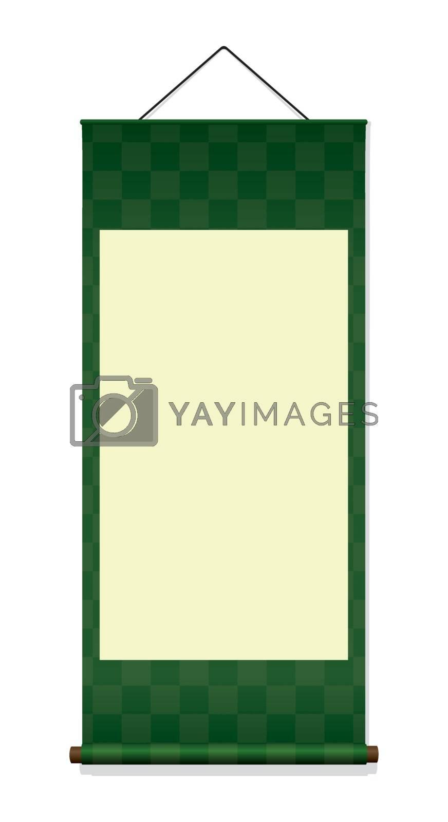 Japanese hanging scroll illustration