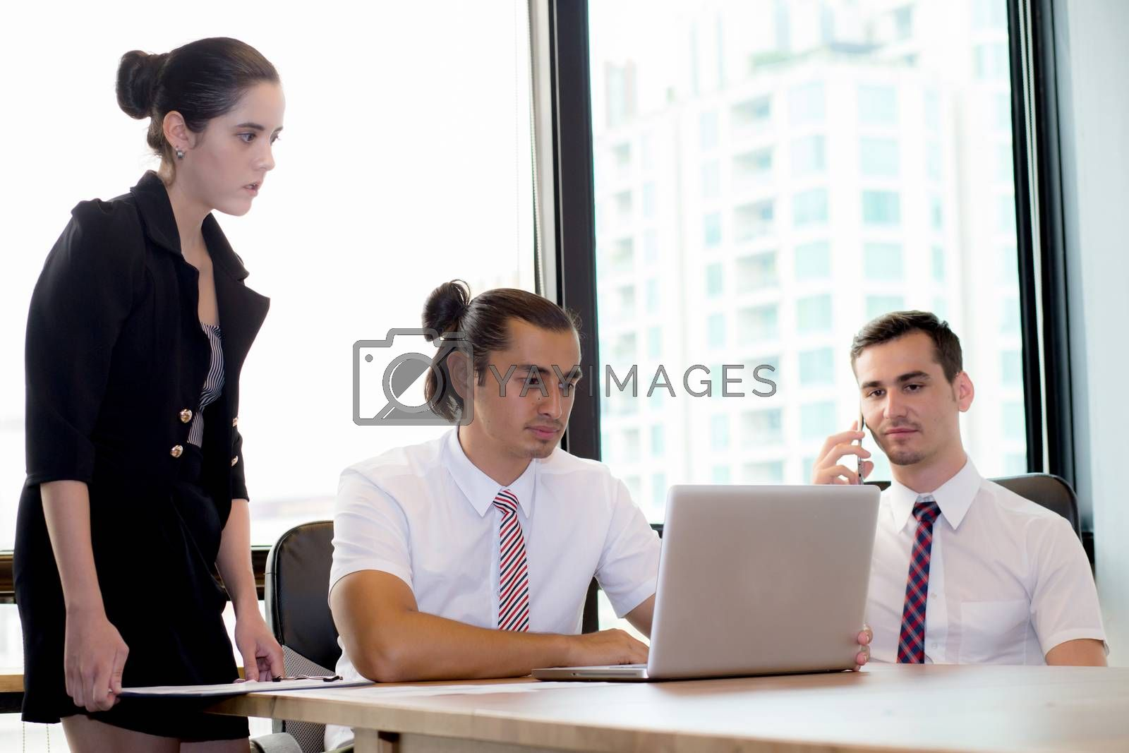 business people talking about the term of their business relationship, business meeting concept.