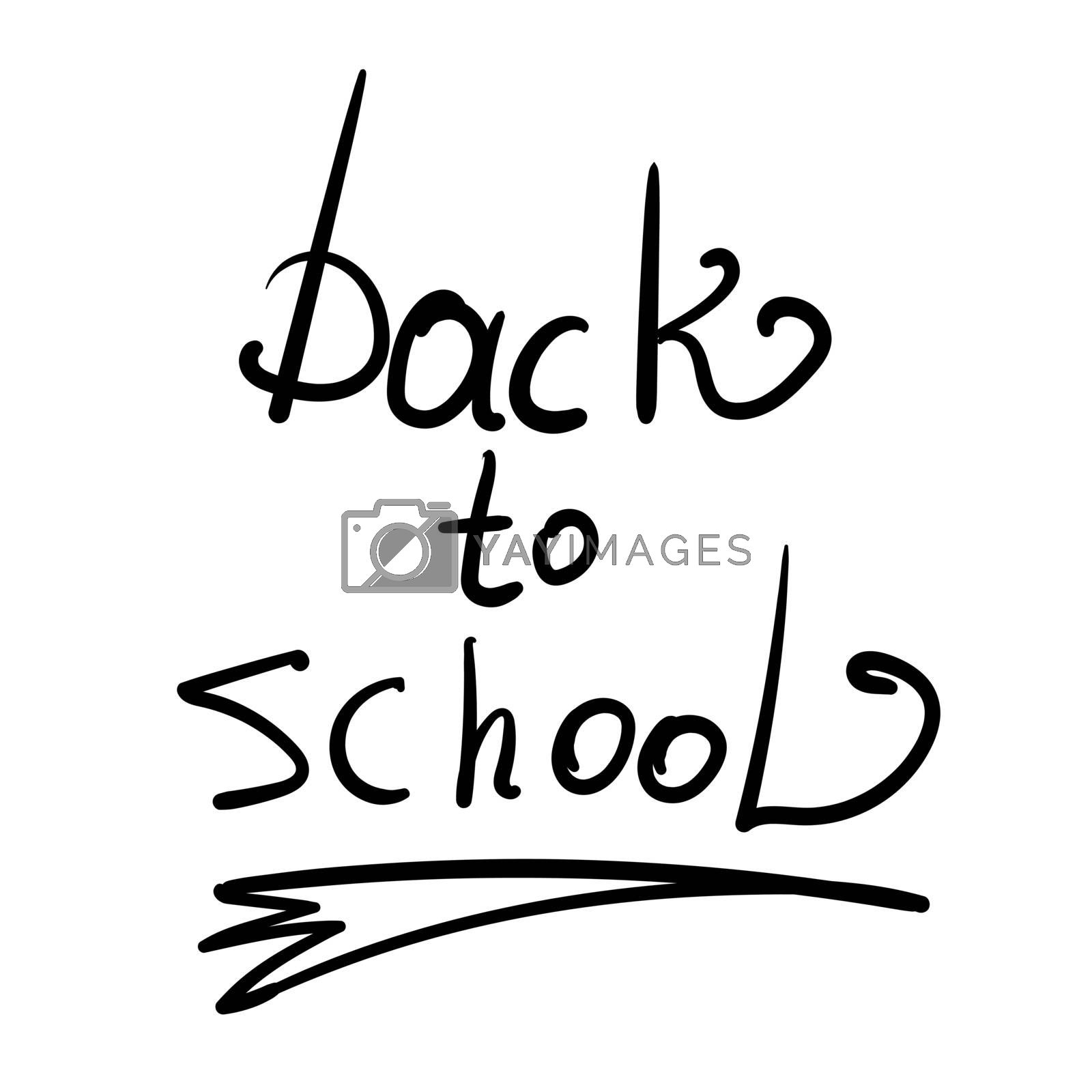 Hand-Drawn Back to School Sketchy Notebook Doodles with Lettering, Books, Shooting Stars, Hearts, and Swirls- Vector Illustration Design Elements on Lined Sketchbook Paper Background.