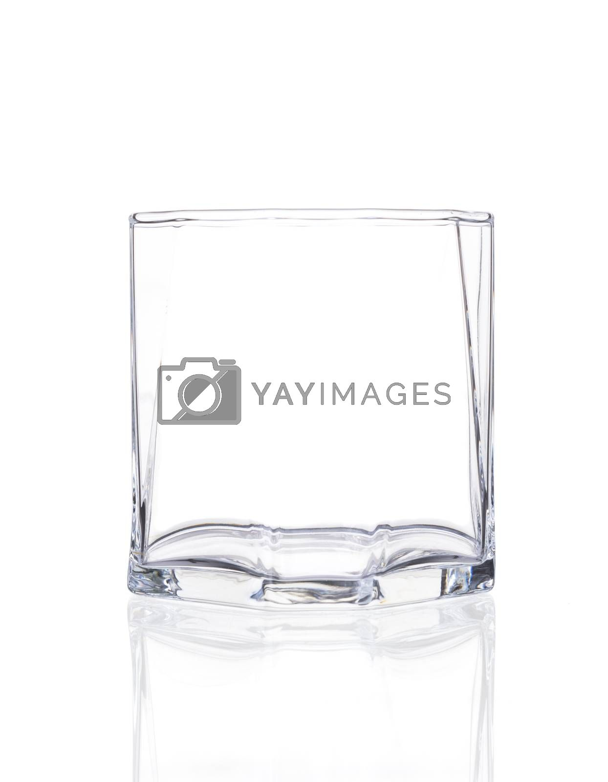 Empty Glass isolated on a white background.