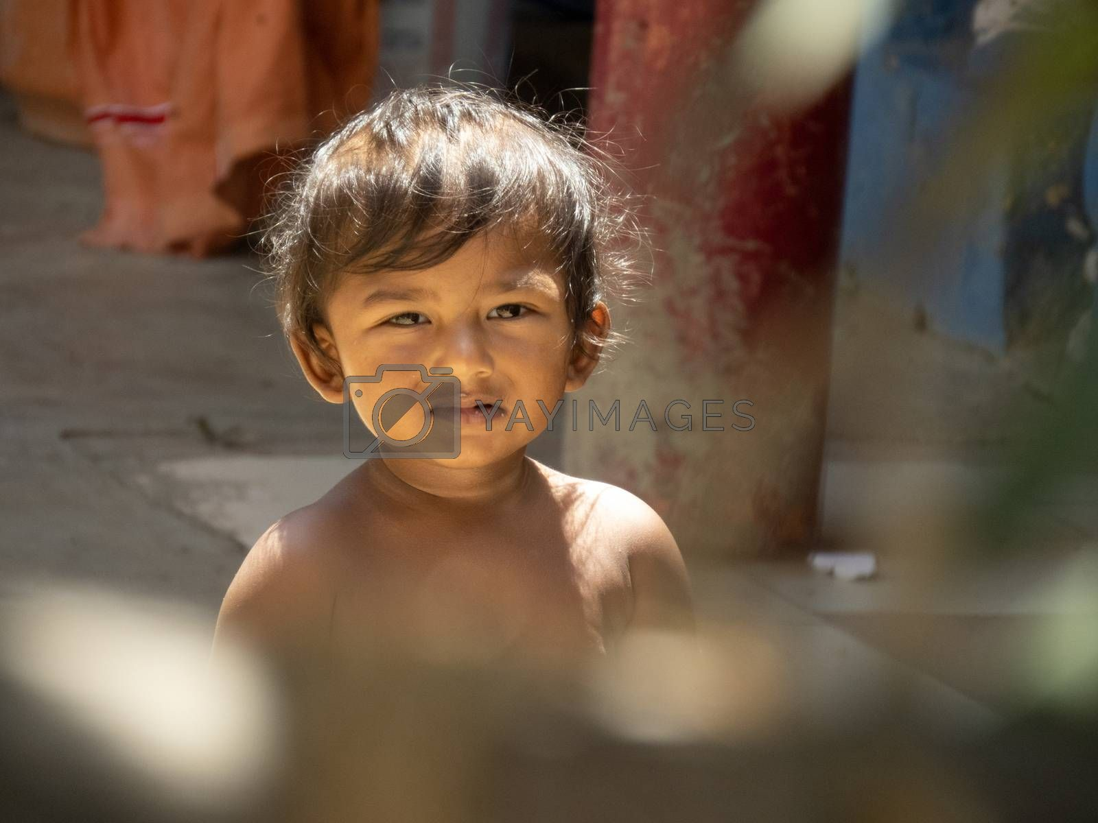 Chennai , India. 20 july 2020. south indian child with selective focus pints