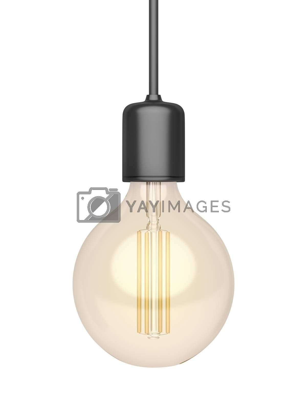 Decorative LED light bulb isolated on white background
