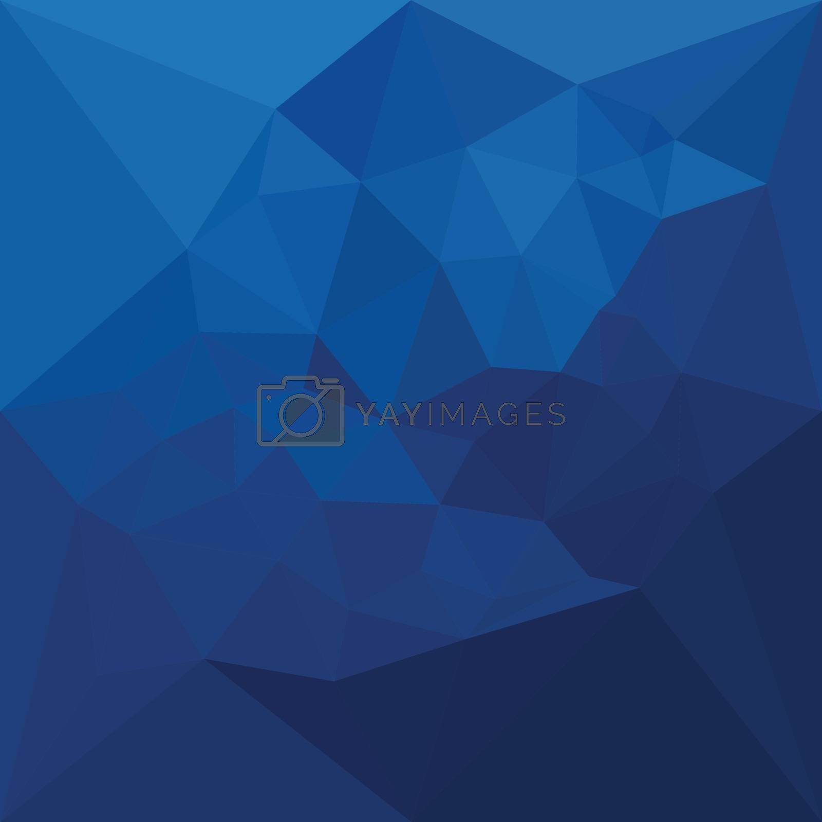 Low polygon style illustration of a egyptian blue abstract geometric background.