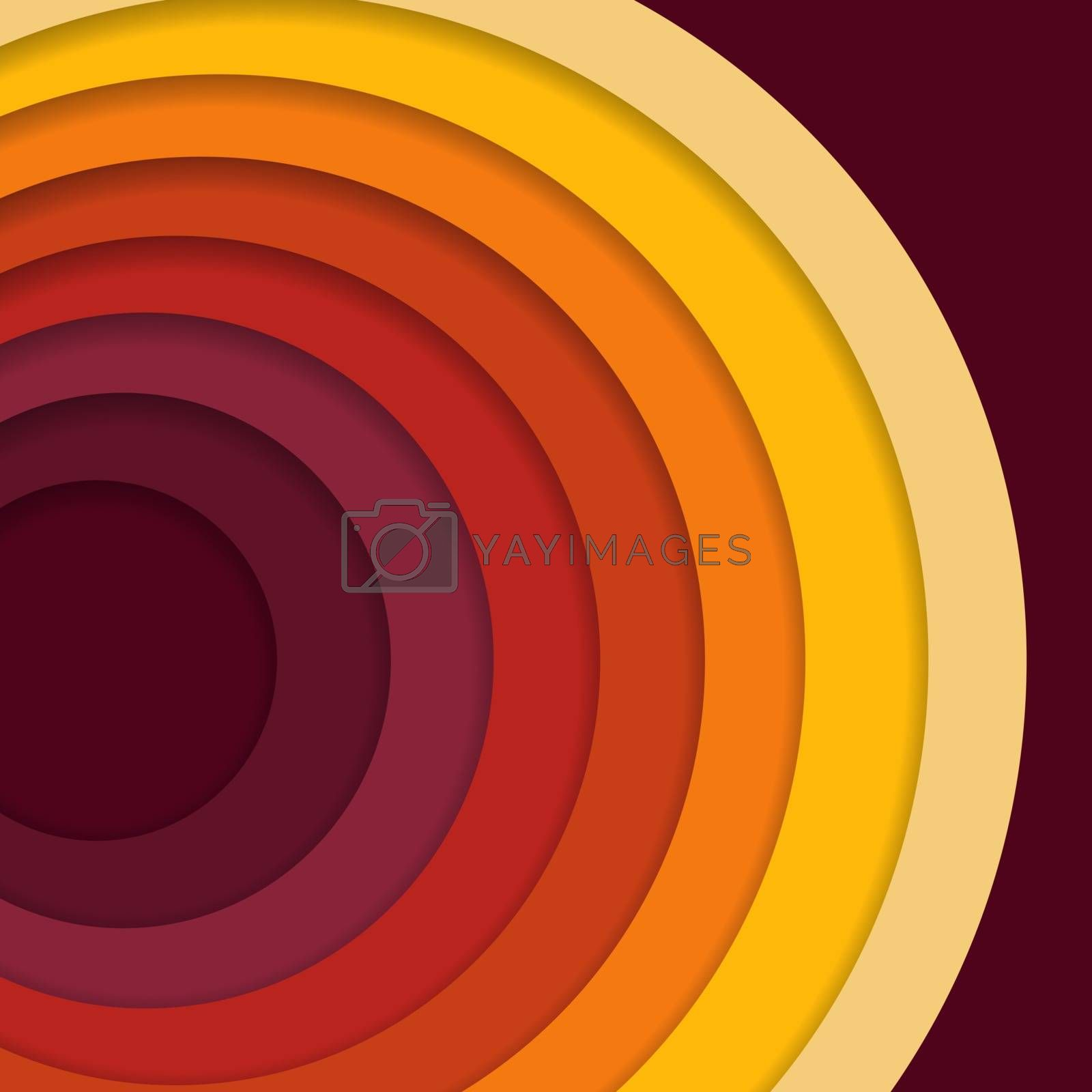 Abstract 3D paper cut background. Abstract wave shapes. Vector format