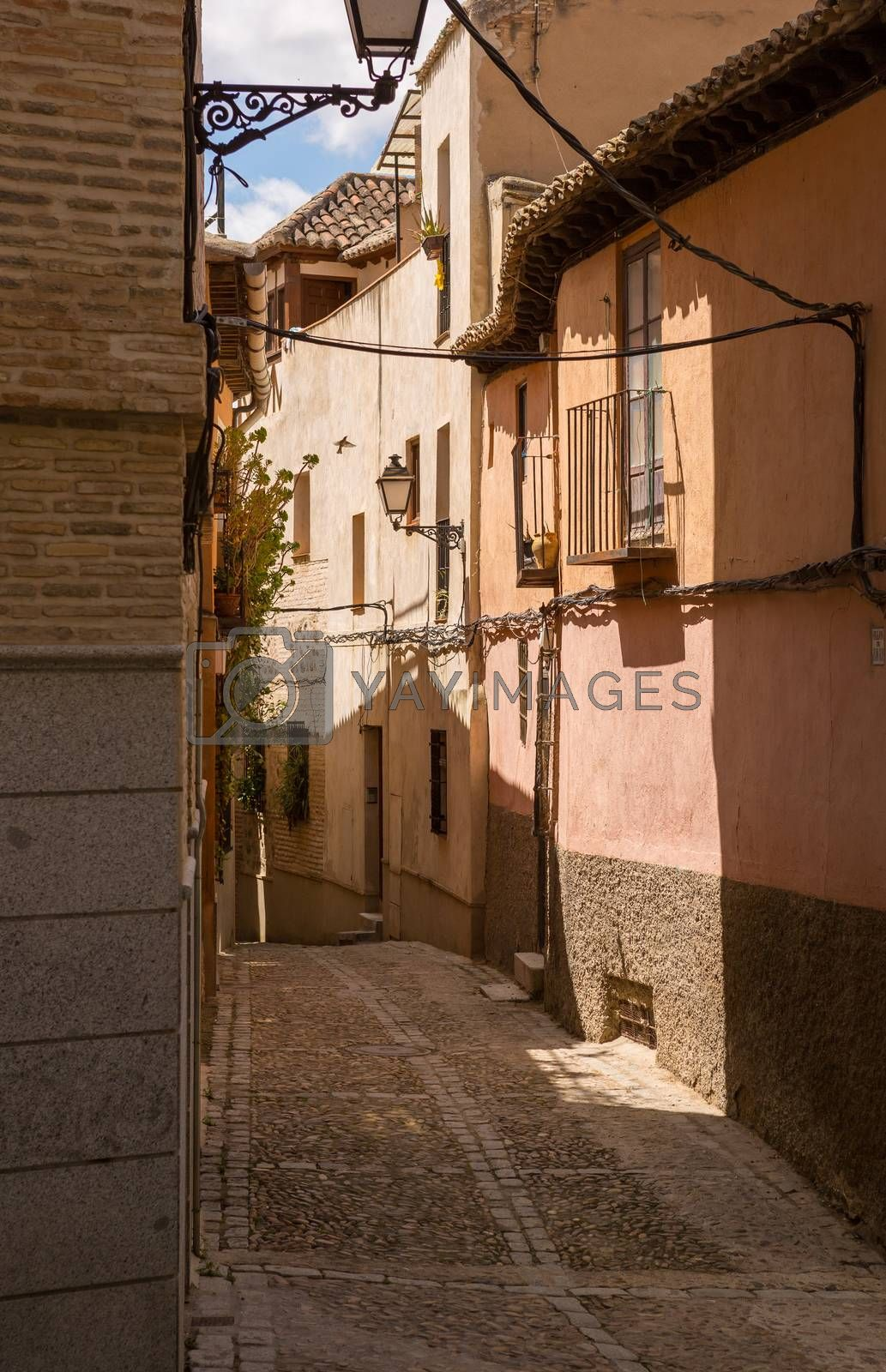 Toledo narrow street in Castile La Mancha, Spain