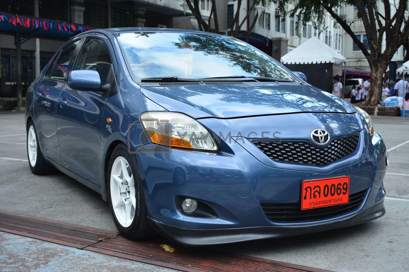 MANILA, PH - NOVEMBER 10 - Toyota vios at Transknight transport show on November 10, 2018 in Manila, Philippines.