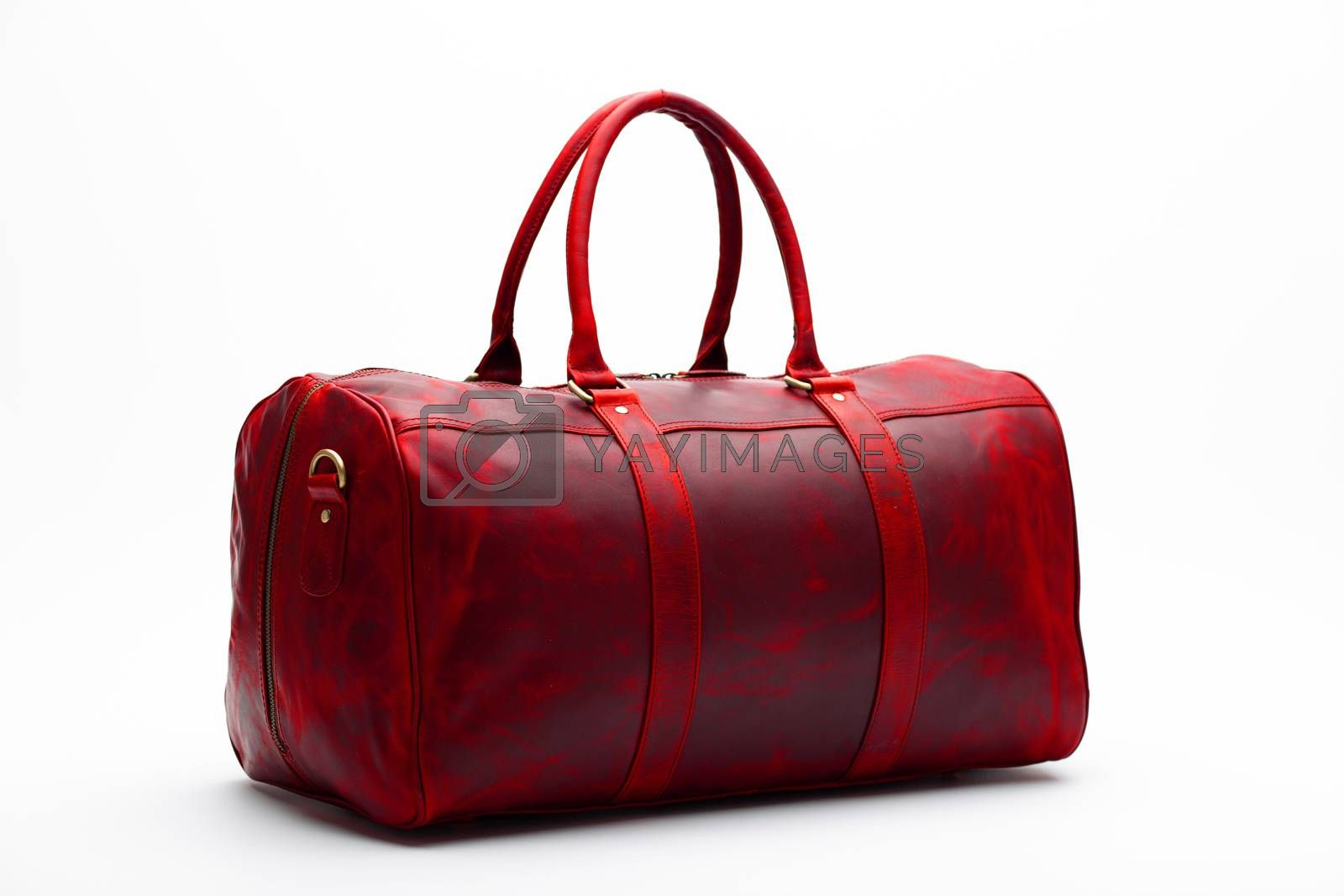 duffel bag travel case leather holdall valise fashion modern by Tim Wit