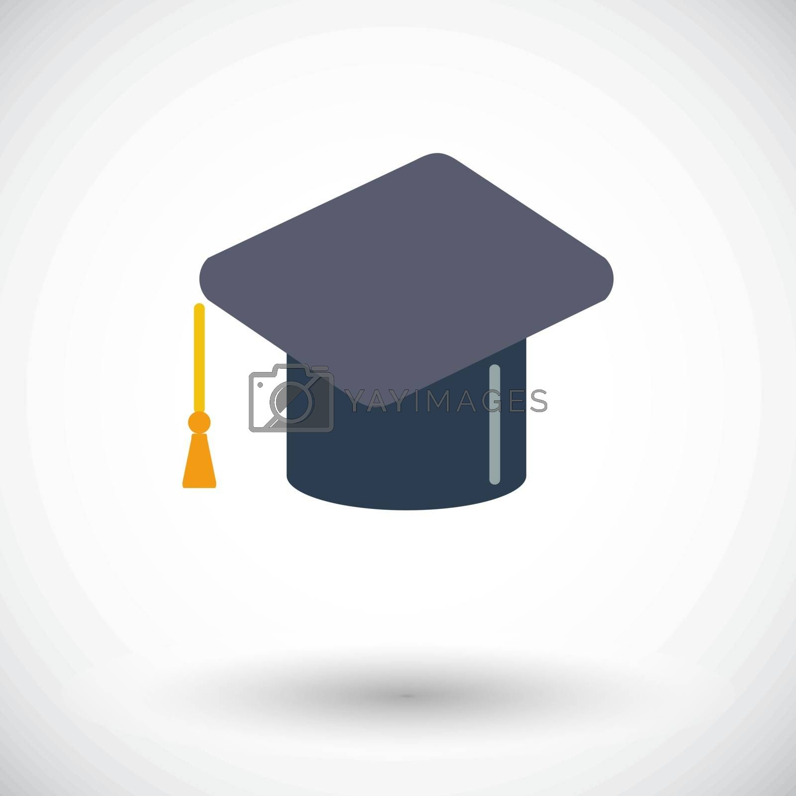 Education. Single flat icon on white background. Vector illustration.