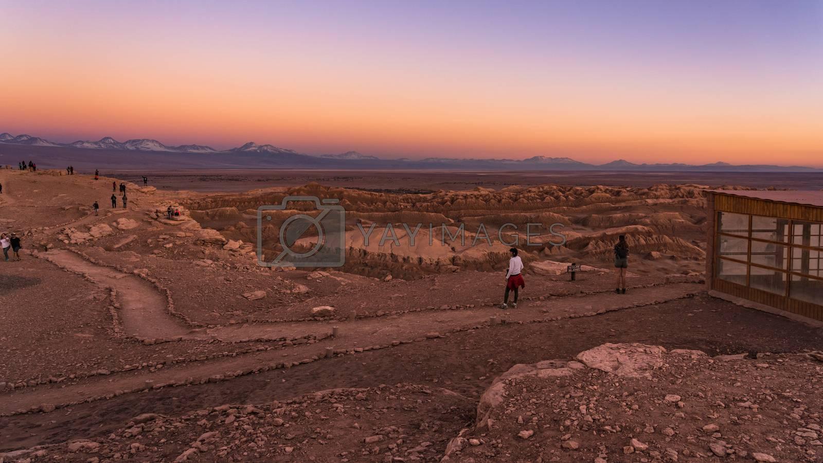 Royalty free image of Sunset at Valle de la luna near San Pedro de Atacama in Chile. by maramade