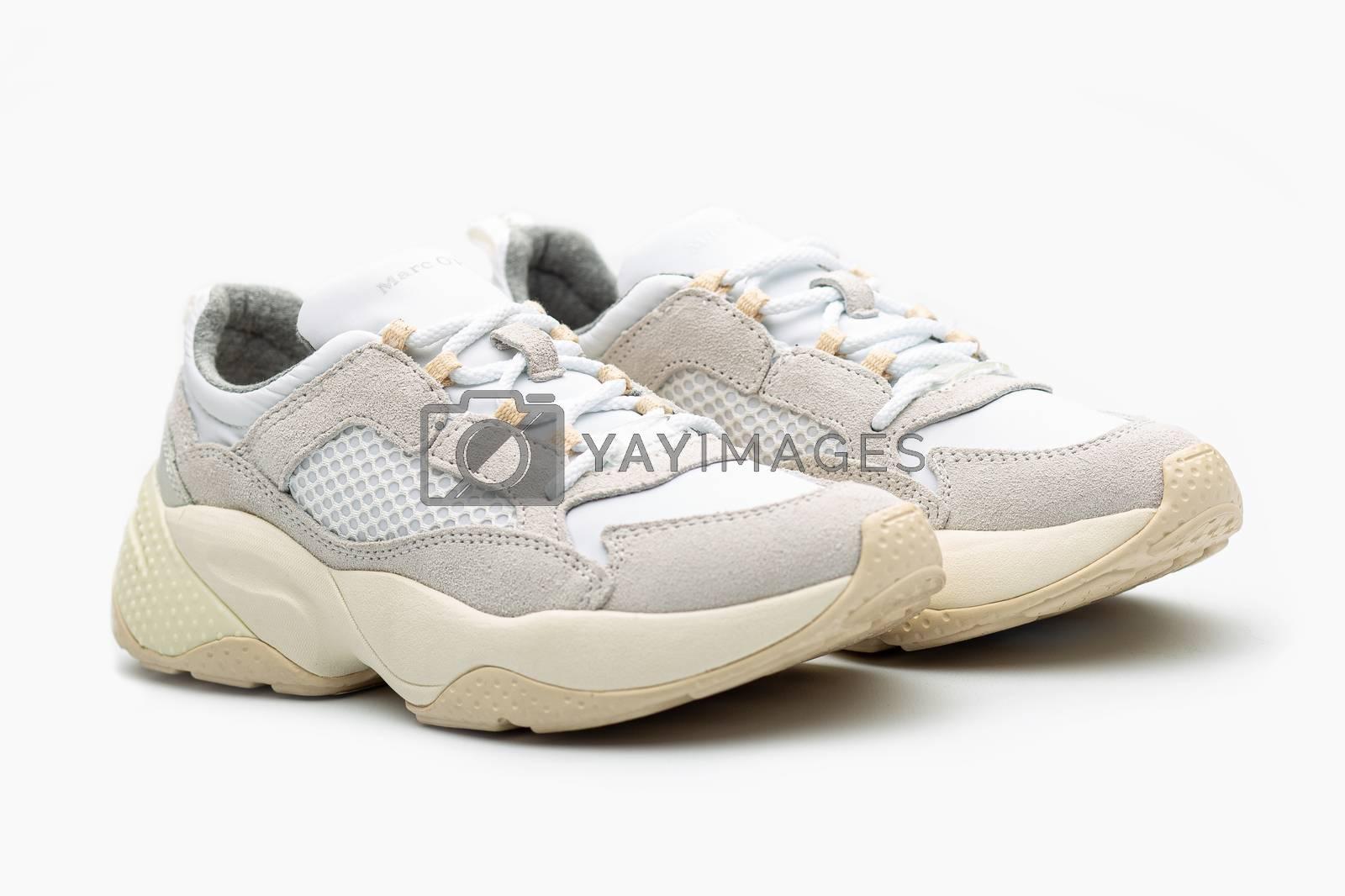 sneaker shoes woman footwear white modern fashion clothing by Tim Wit