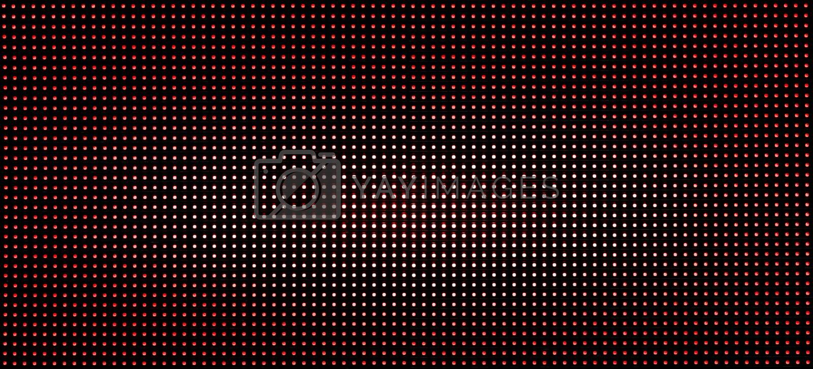 pattern luminous red and white led dots lights on black background