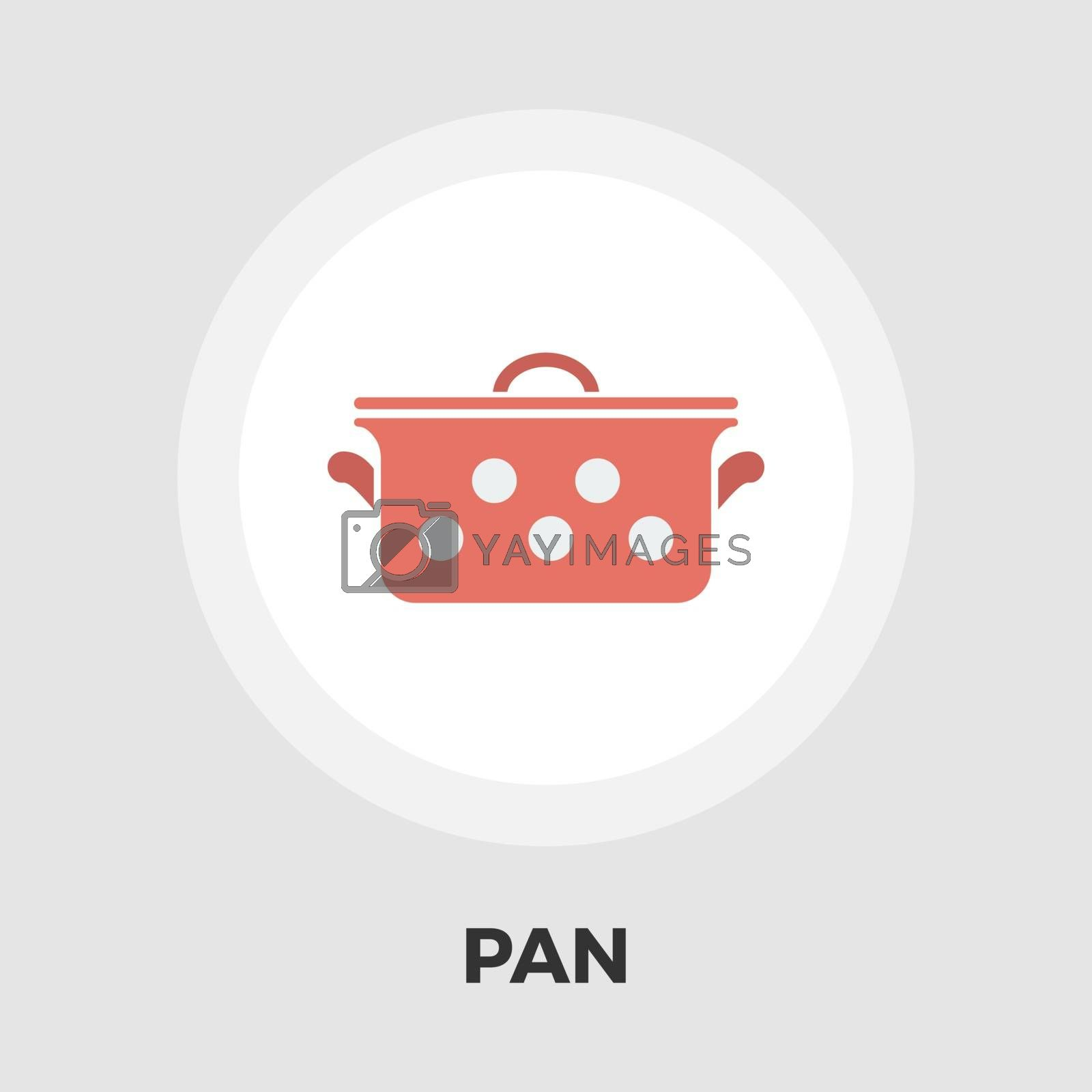 Pan icon flat by smoki