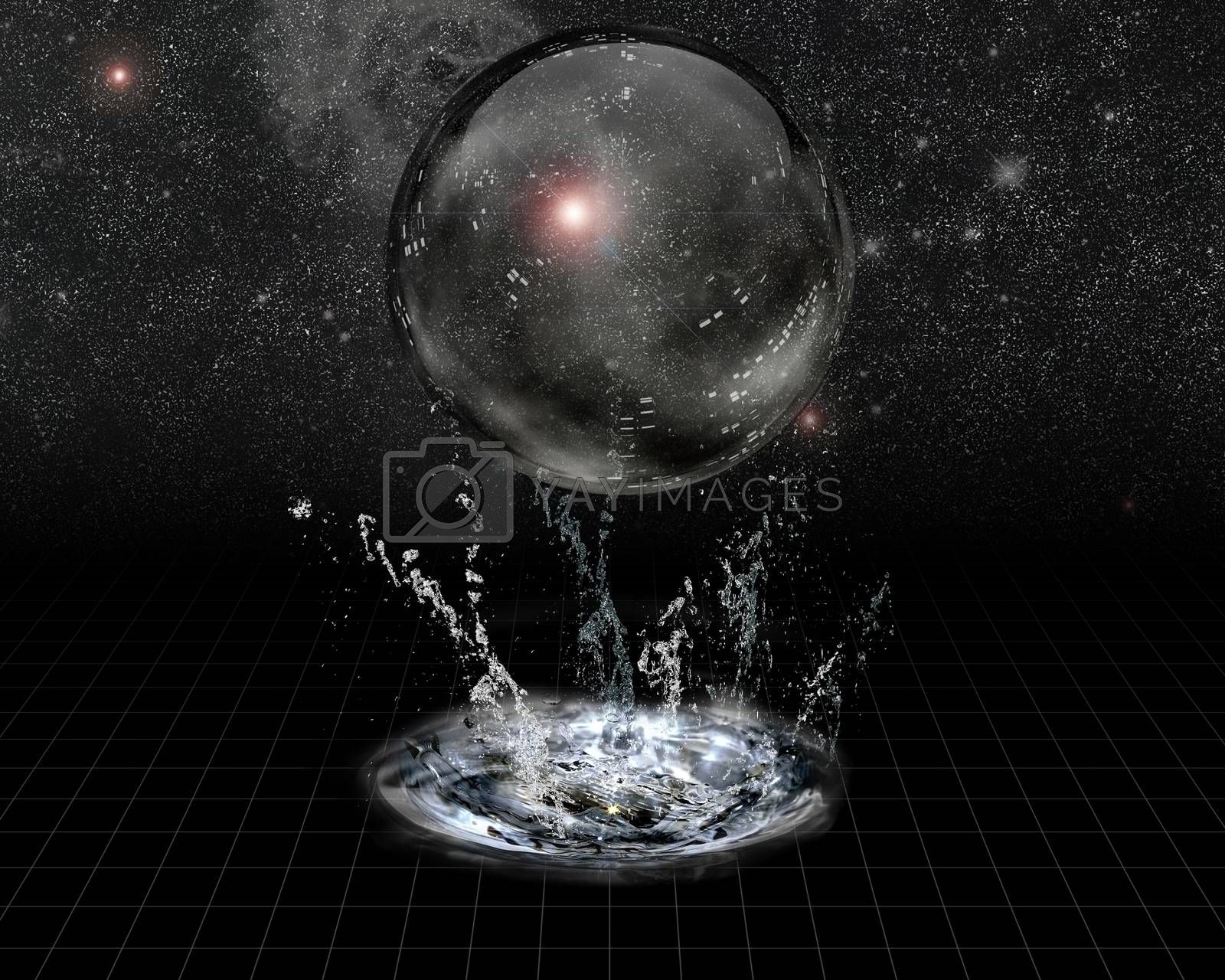 Crystal Sphere and splash before stars