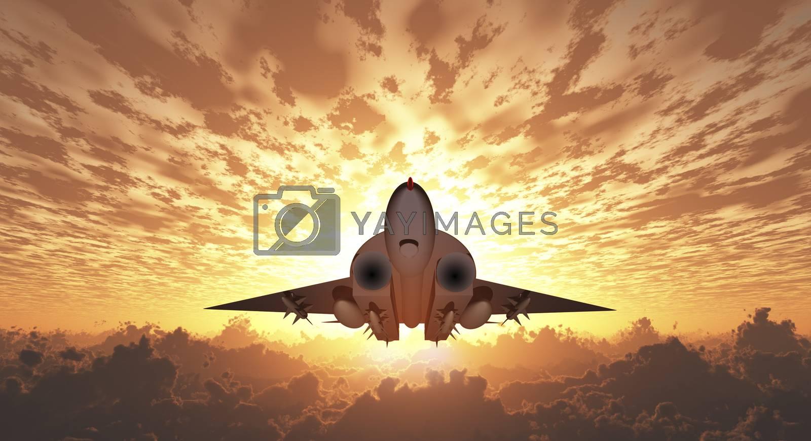Military Jet by applesstock
