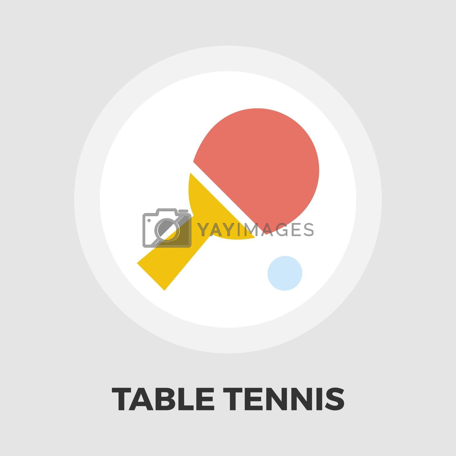 Table tennis icon vector. Flat icon isolated on the white background. Editable EPS file. Vector illustration.