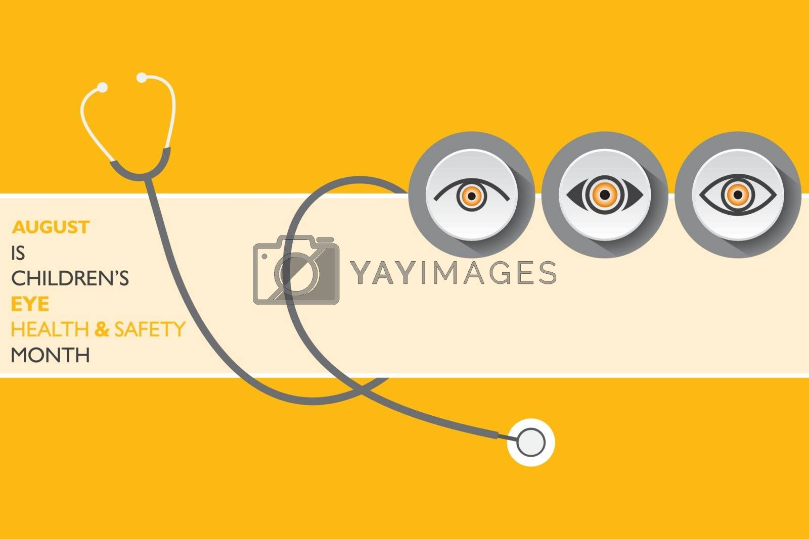 Vector Illustration of Children's Eye Health and Safety Month observed in August