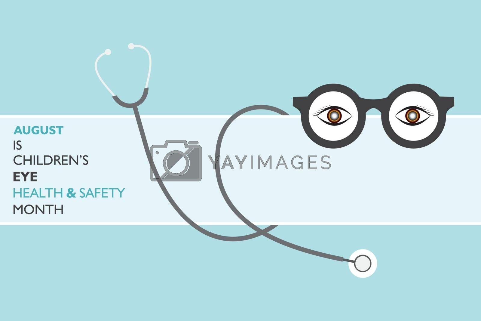 Children's Eye Health and Safety Month observed in August by graphicsdunia4you
