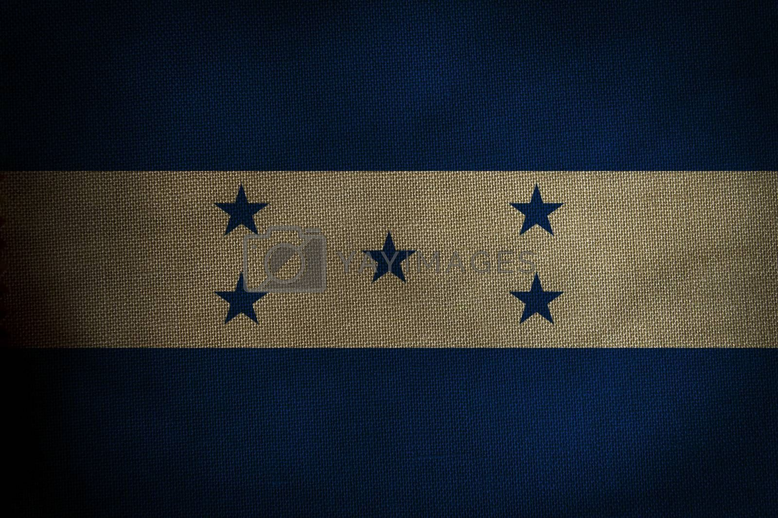 The central part of the flag of the state of Honduras