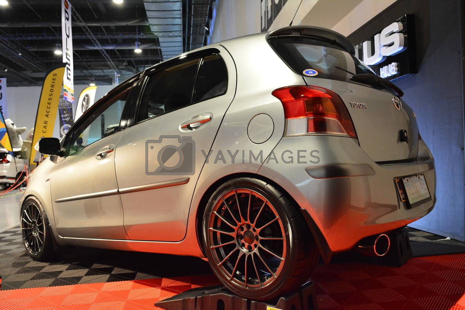 PASAY, PH - MAY 25 - Toyota yaris at 25th Trans Sport Show on May 25, 2019 in Pasay, Philippines.