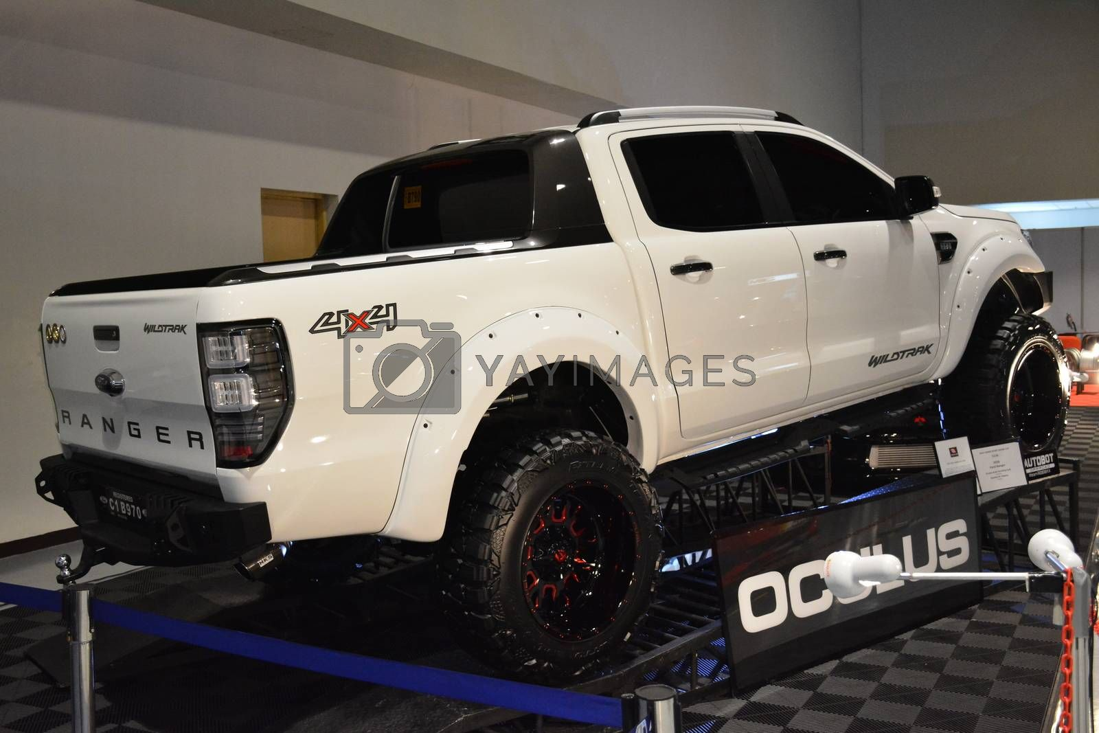 PASAY, PH - MAY 25 - Ford ranger pick up at 25th Trans Sport Show on May 25, 2019 in Pasay, Philippines.