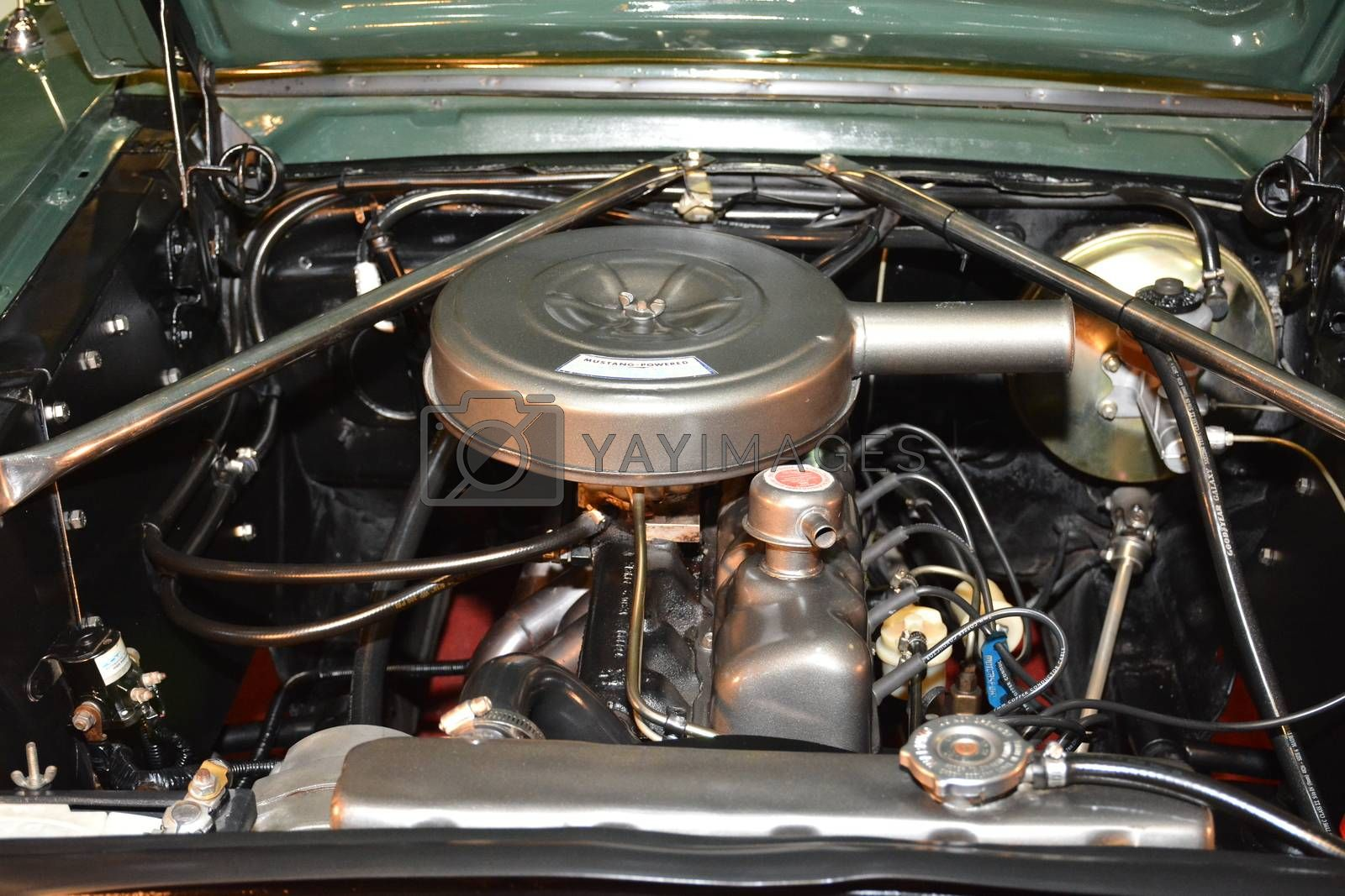 PASAY, PH - MAY 25 - Ford mustang motor engine at 25th Trans Sport Show on May 25, 2019 in Pasay, Philippines.