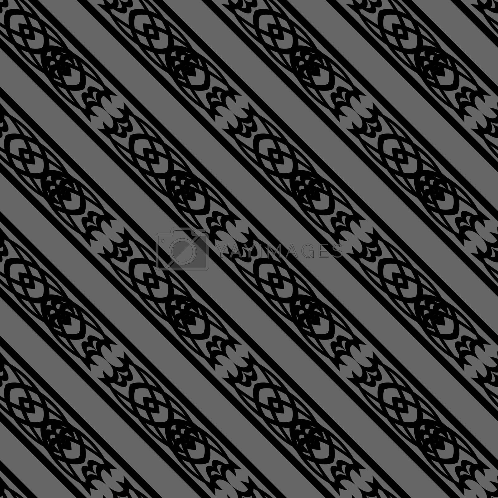 dark seamless background pattern in ancient gothic, viking or celtic style