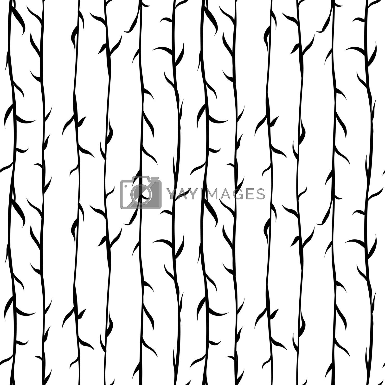 simple monochrome seamless background pattern with thin branches or wool texture