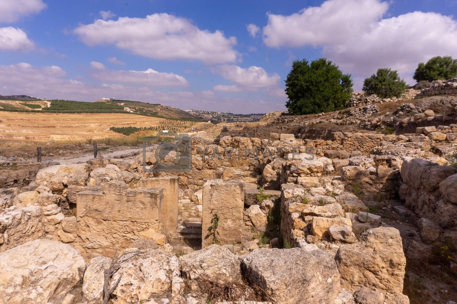 Excavations in archaeology park of Samaria settlement by javax