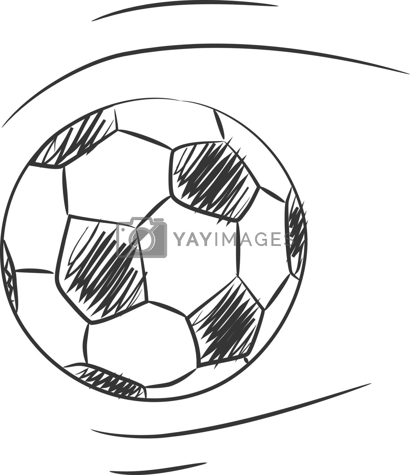 Soccer vector hand drawn line art icon art illustration