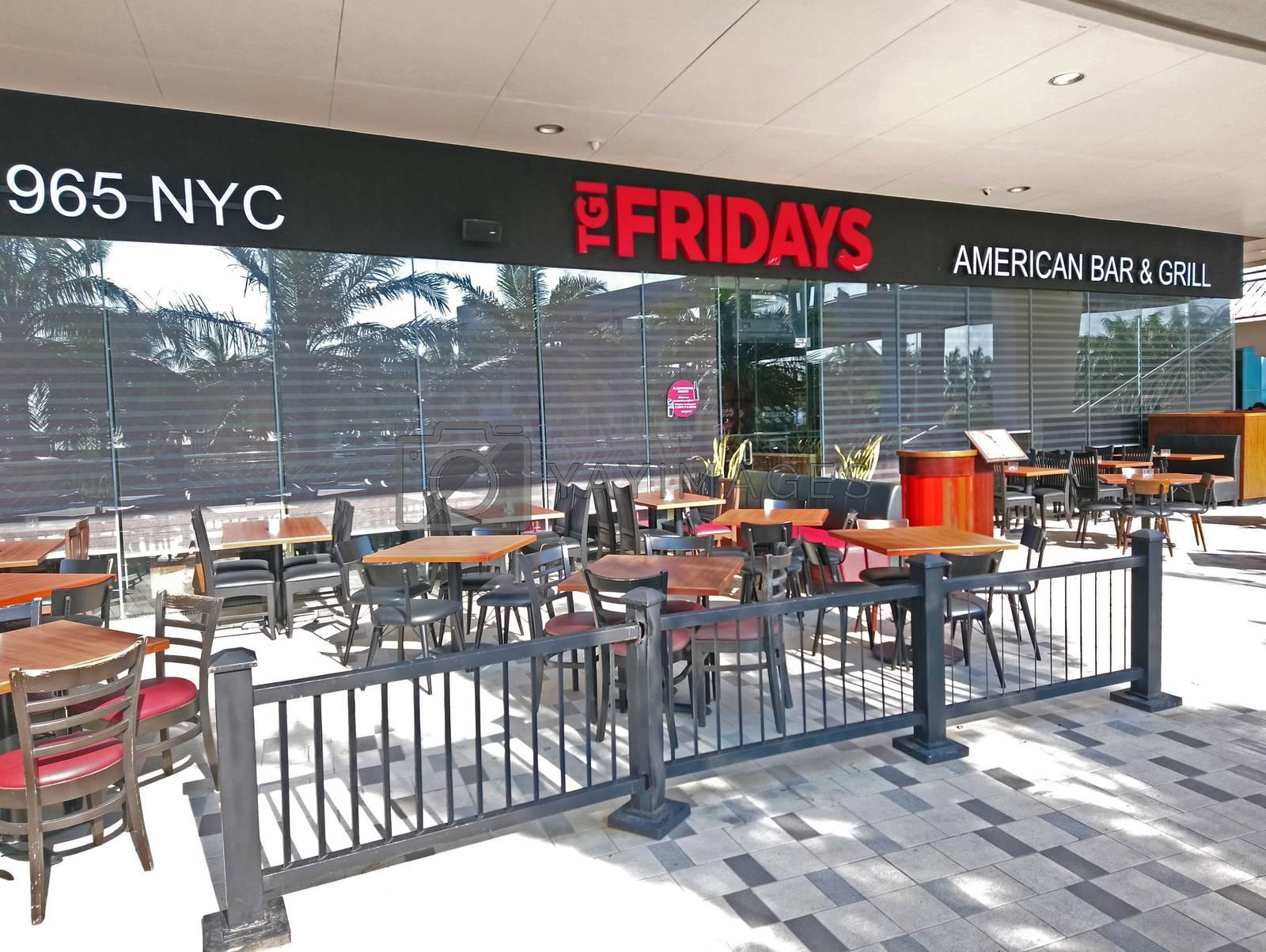 PASAY, PH - NOV 12 - TGI Fridays restaurant facade on November 12, 2018 in Pasay, Philippines.