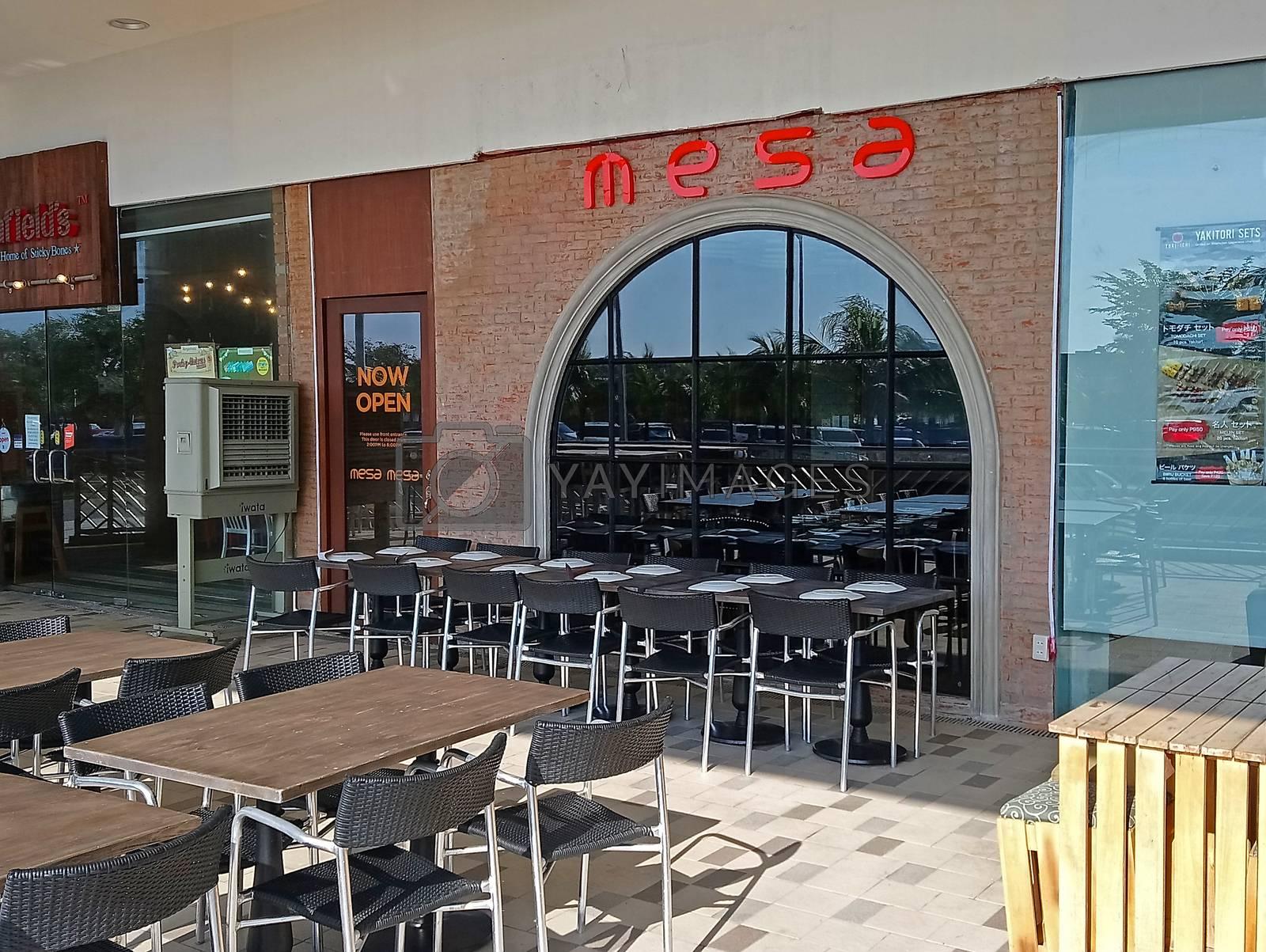 PASAY, PH - NOV 12 - Mesa restaurant facade on November 12, 2018 in Pasay, Philippines.