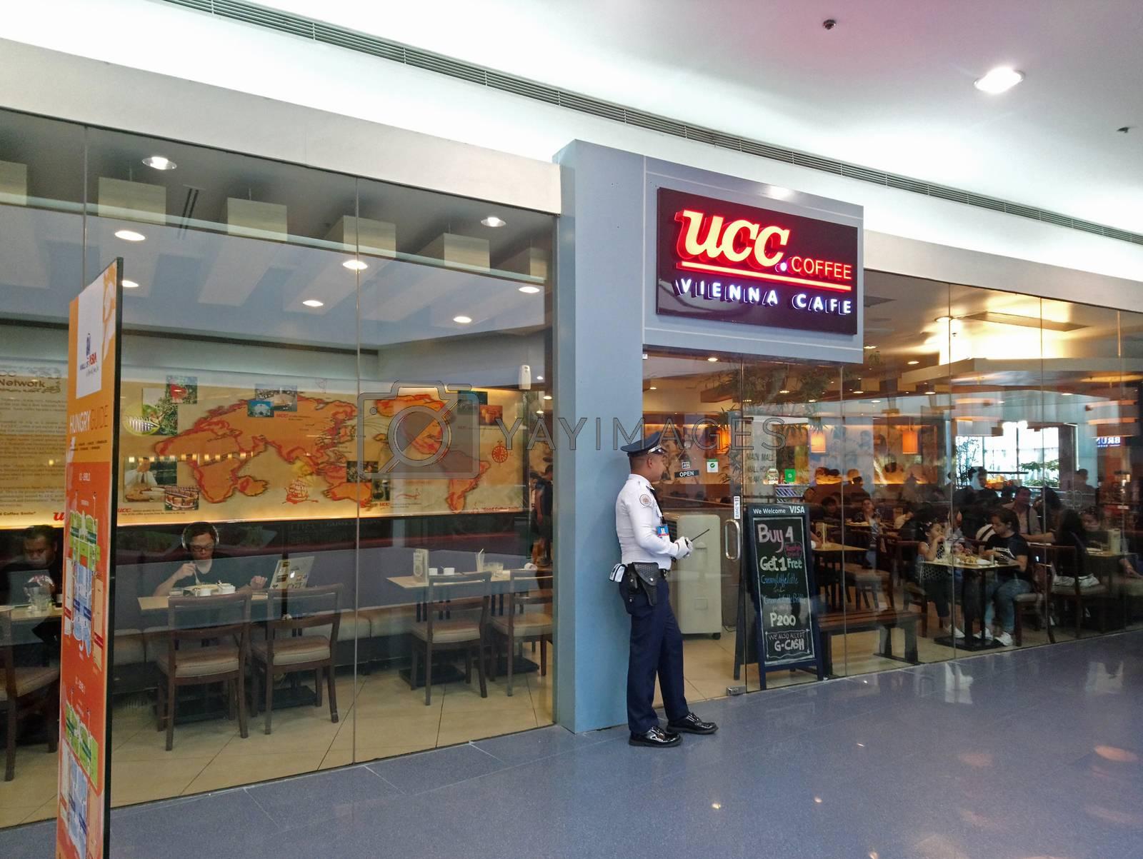 PASAY, PH - NOV 12 - UCC coffee Vienna cafe facade on November 12, 2018 in Pasay, Philippines.