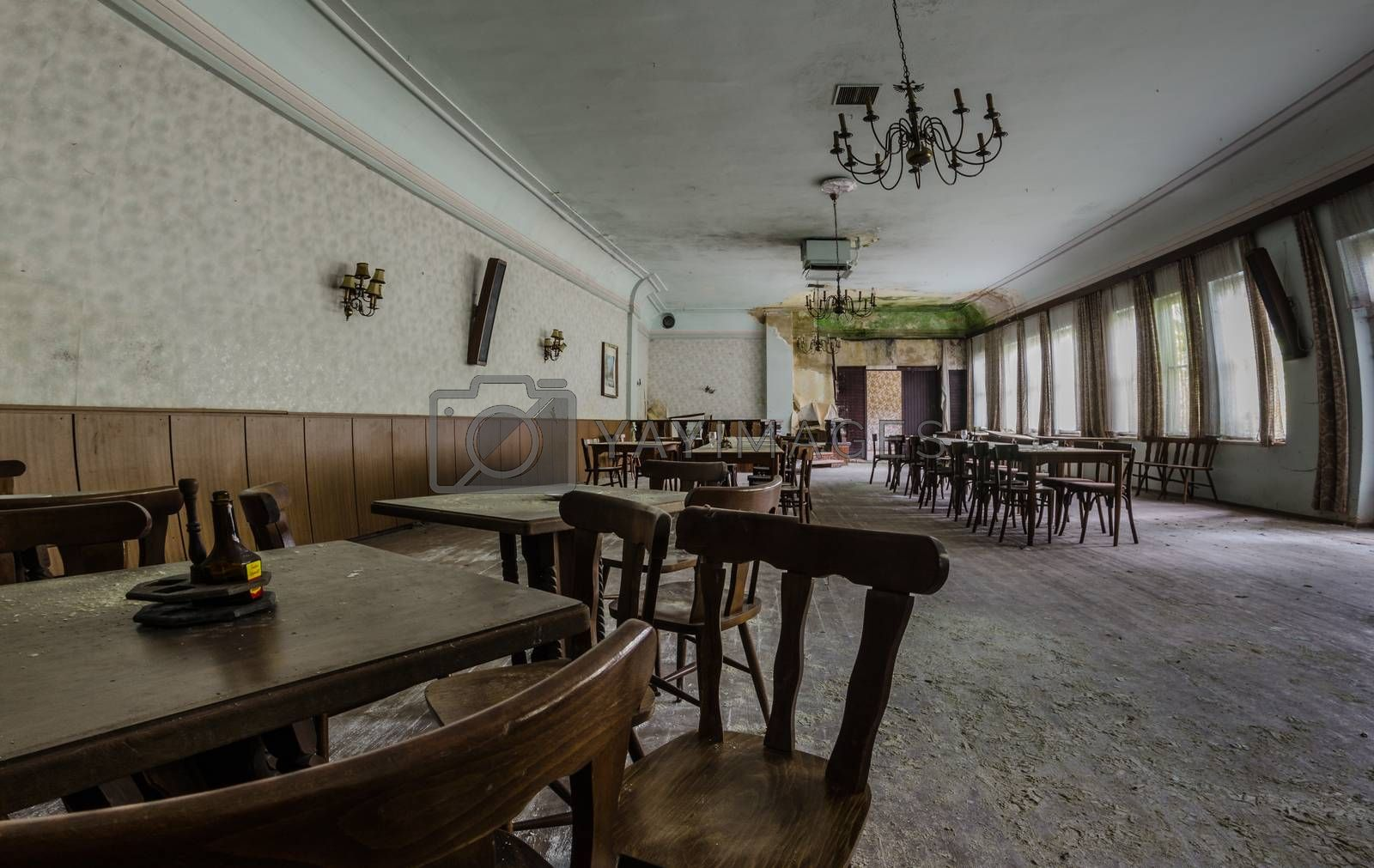 ballroom in abandoned guesthouse by thomaseder
