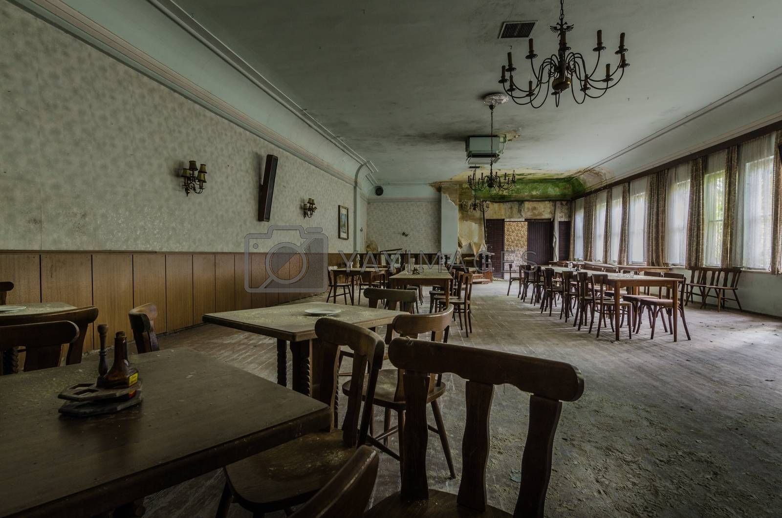 ballroom with tables and armchair by thomaseder